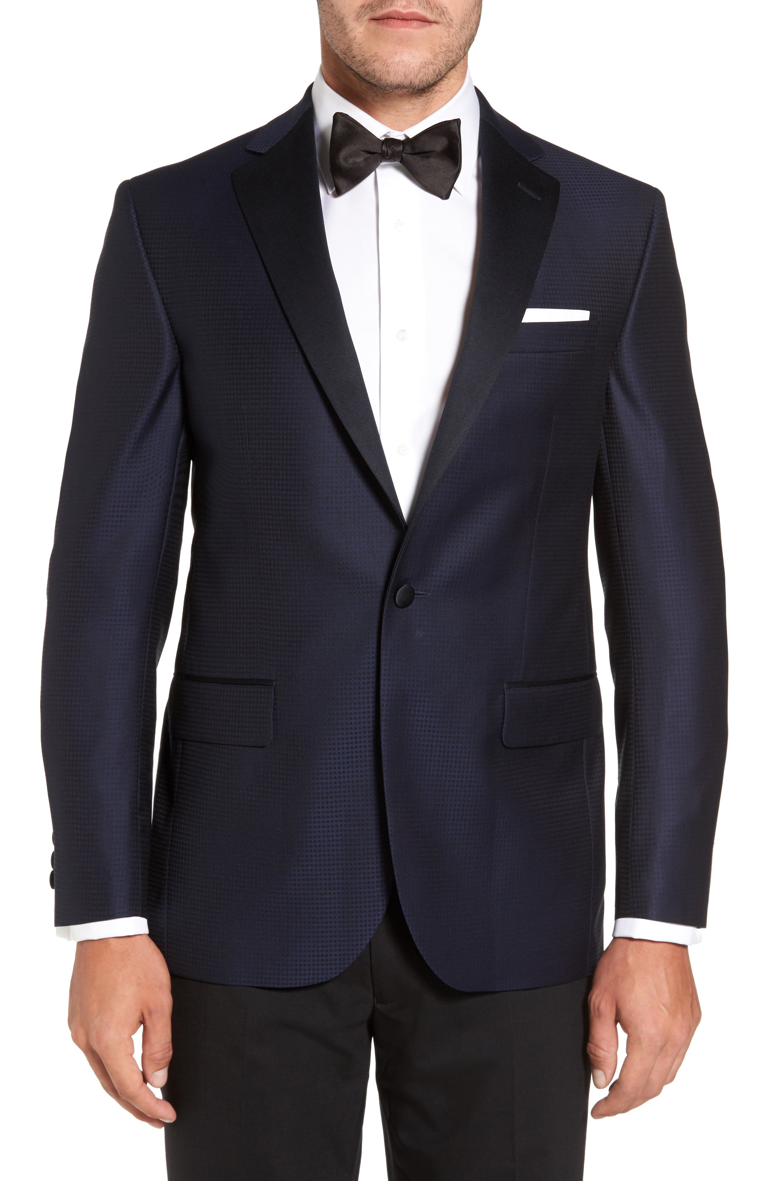 Alternate Image 1 Selected - David Donahue Reed Classic Fit Dinner Jacket