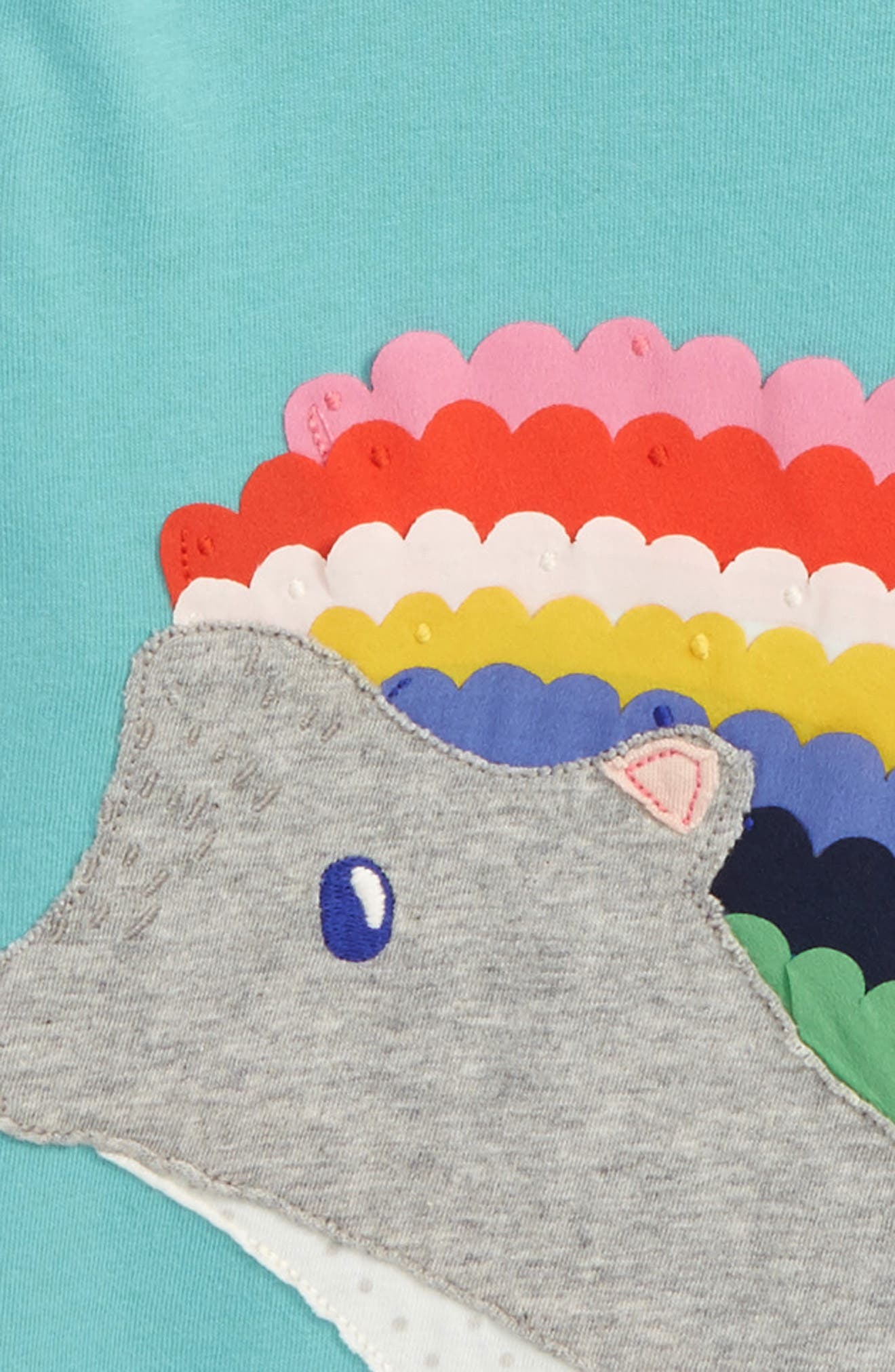 Alternate Image 2  - Boden Big Appliqué T-Shirt (Toddler Girls, Little Girls & Big Girls)