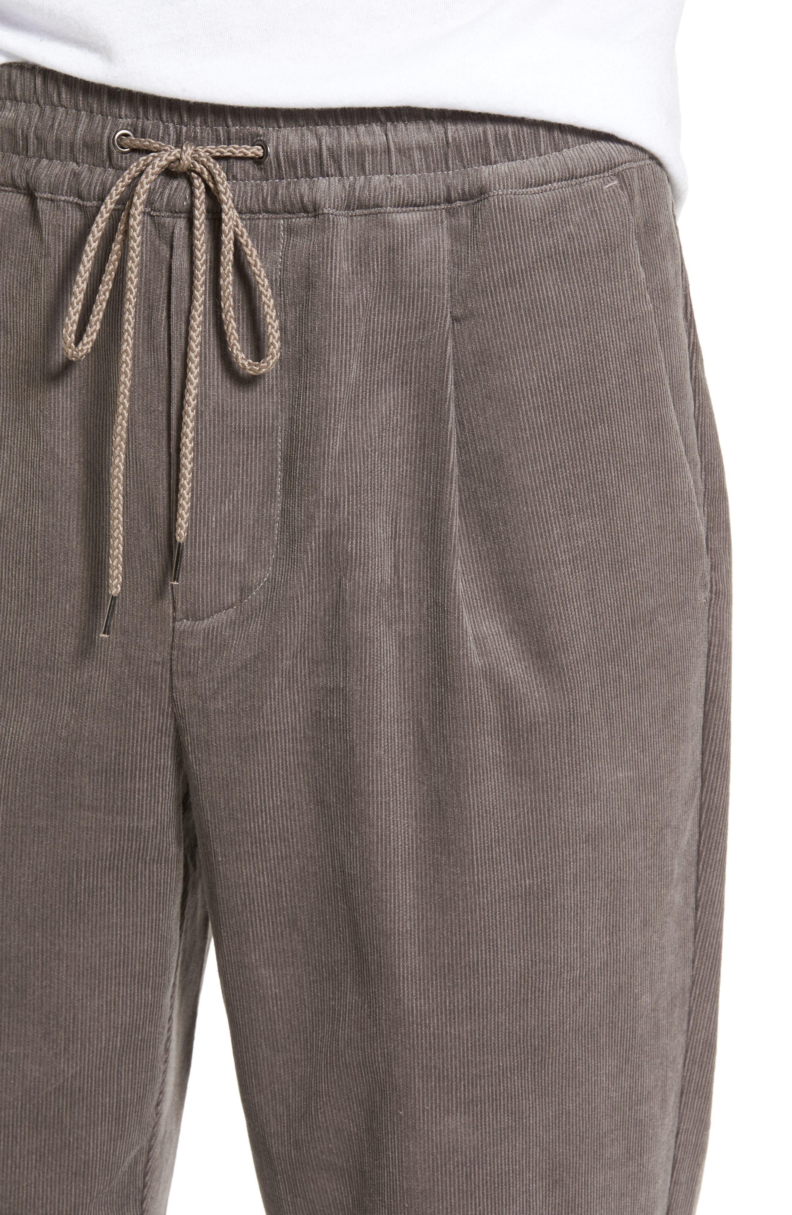 Astbury Crop Corduroy Pants,                             Alternate thumbnail 4, color,                             Grey