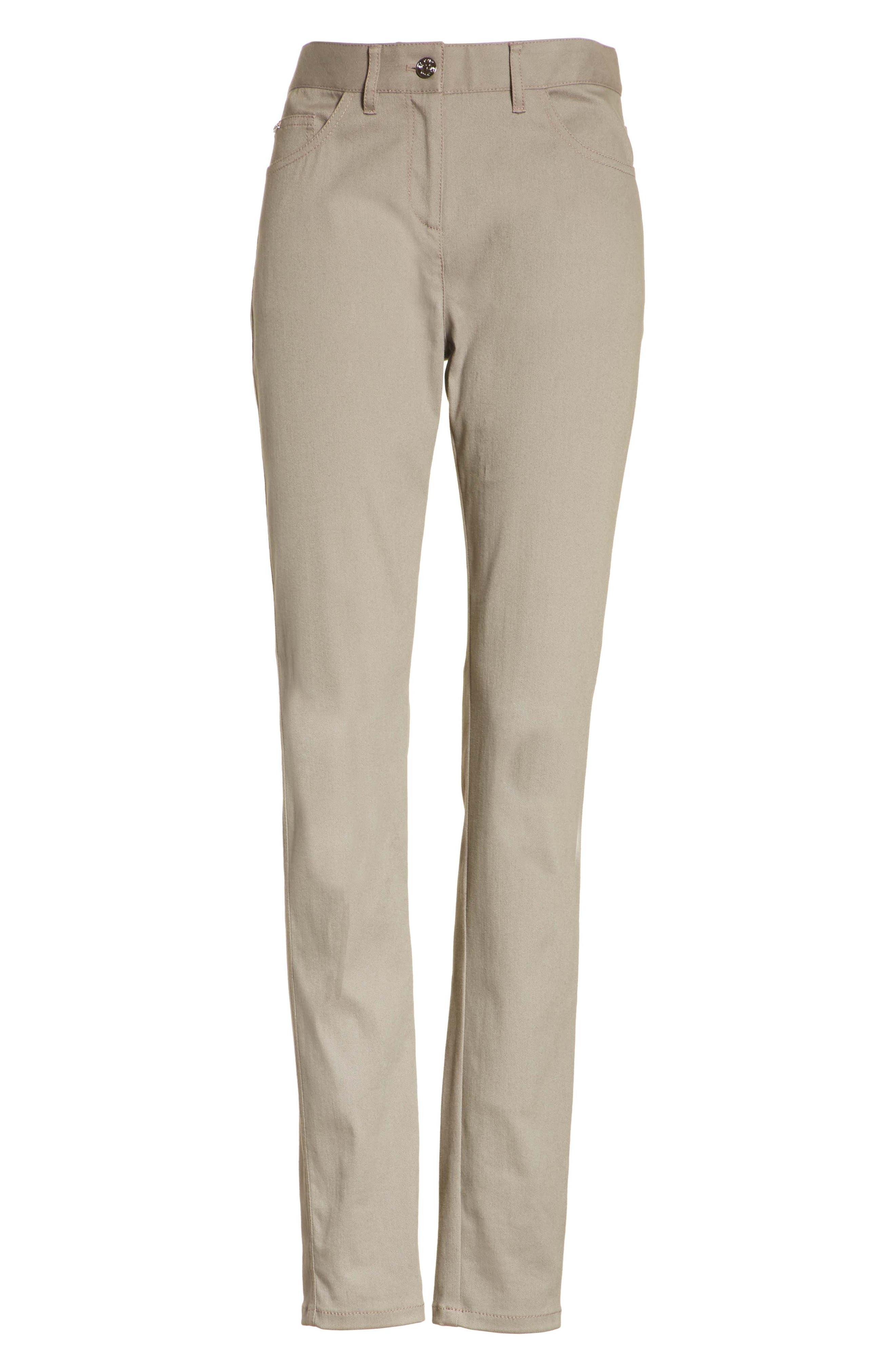 Bardot Double Dye Stretch Jeans,                             Alternate thumbnail 6, color,                             Travertine