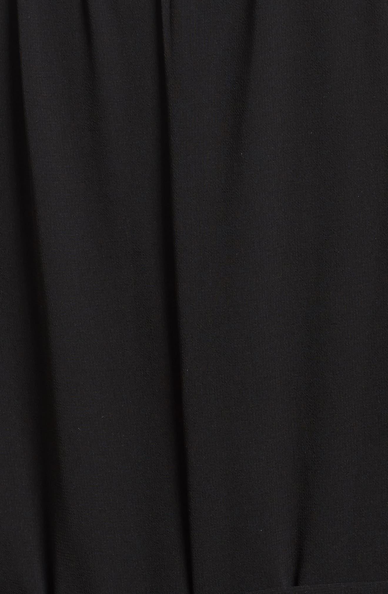 Maxi Dress,                             Alternate thumbnail 5, color,                             Black