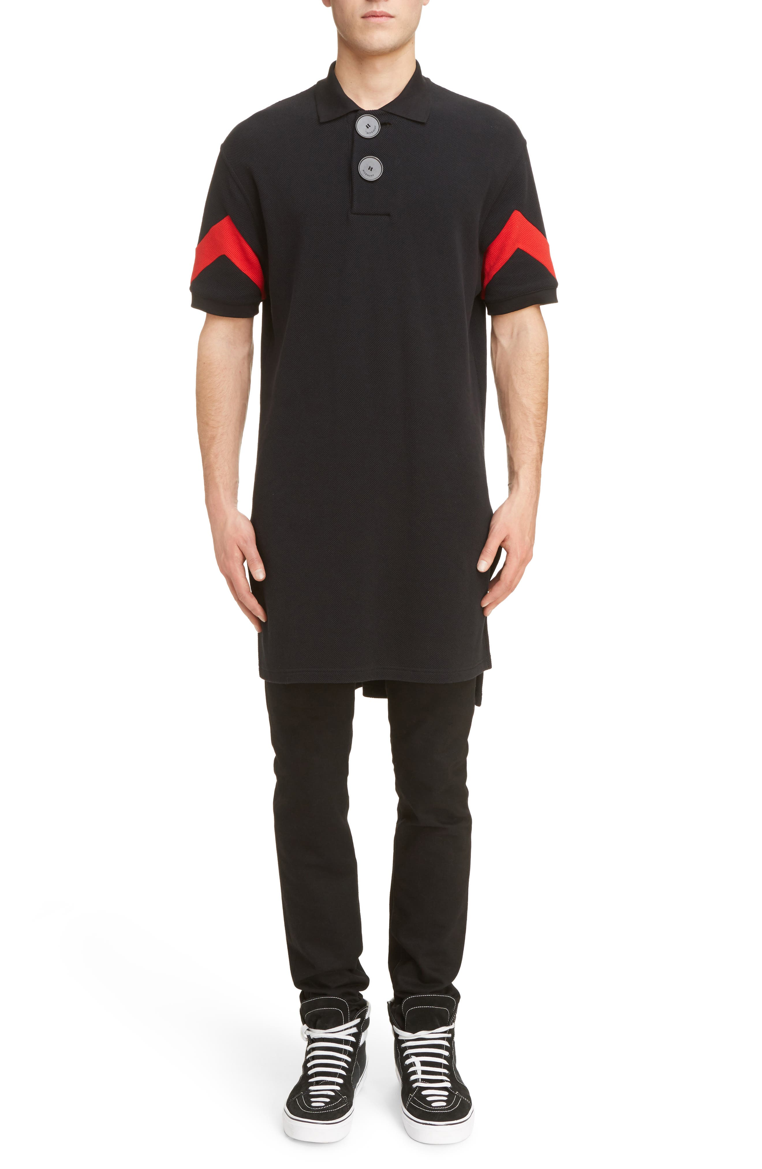 Alternate Image 6  - Givenchy Cuban Fit Stripe Sleeve Polo