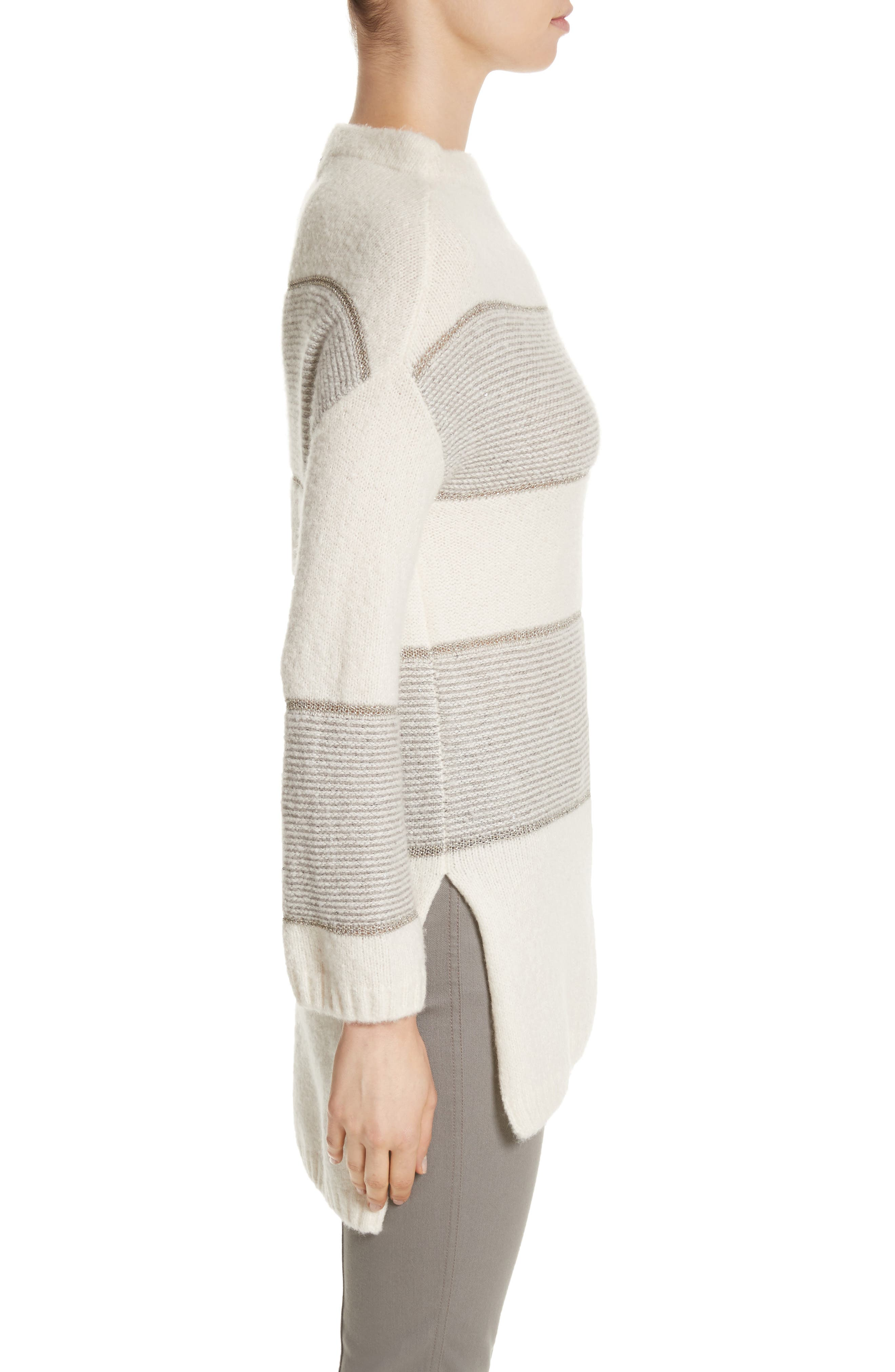 Alternate Image 3  - St. John Collection Links Knit Funnel Neck Sweater
