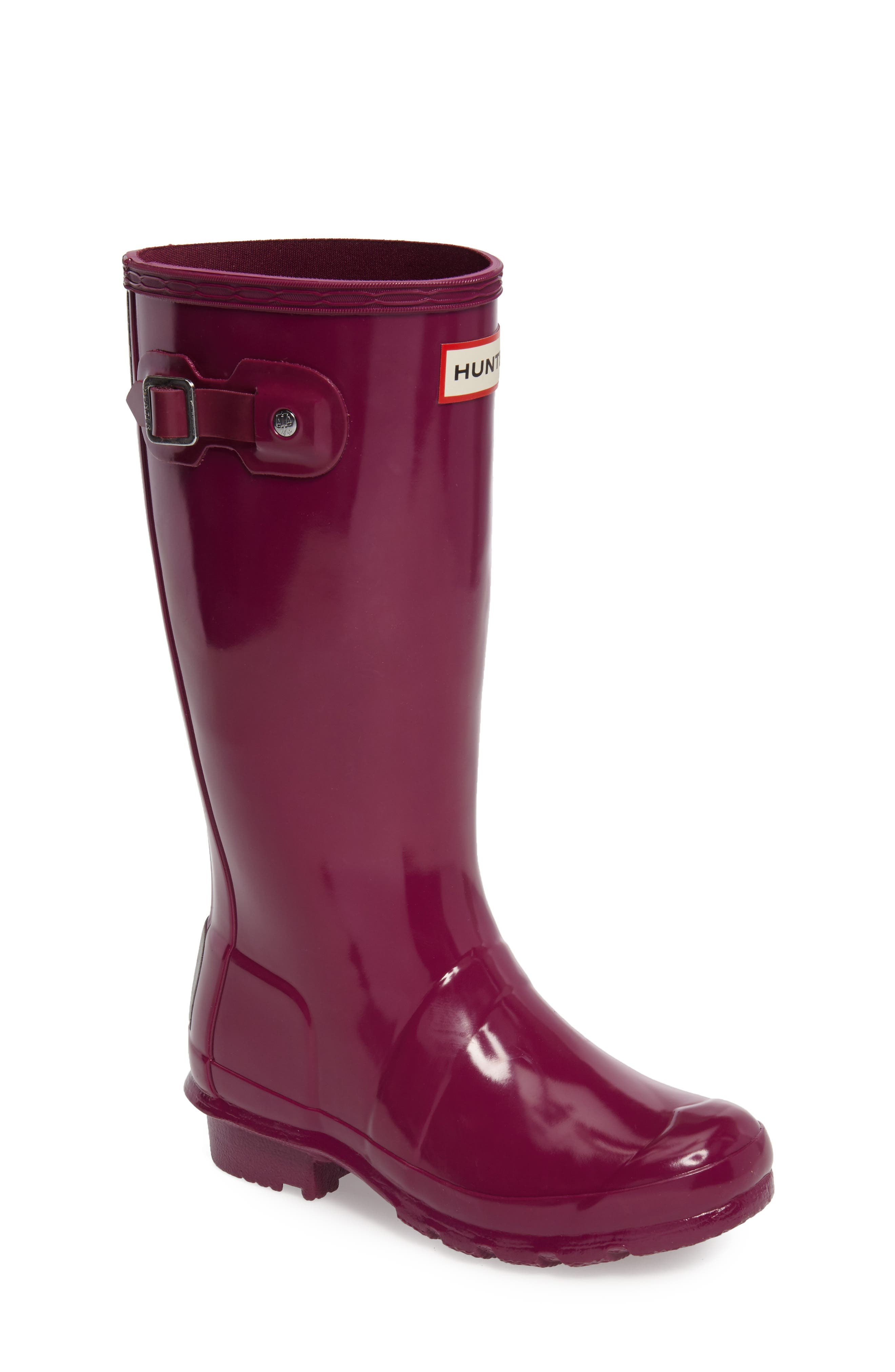 Hunter 'Original Gloss' Rain Boot (Little Kid & Big Kid)