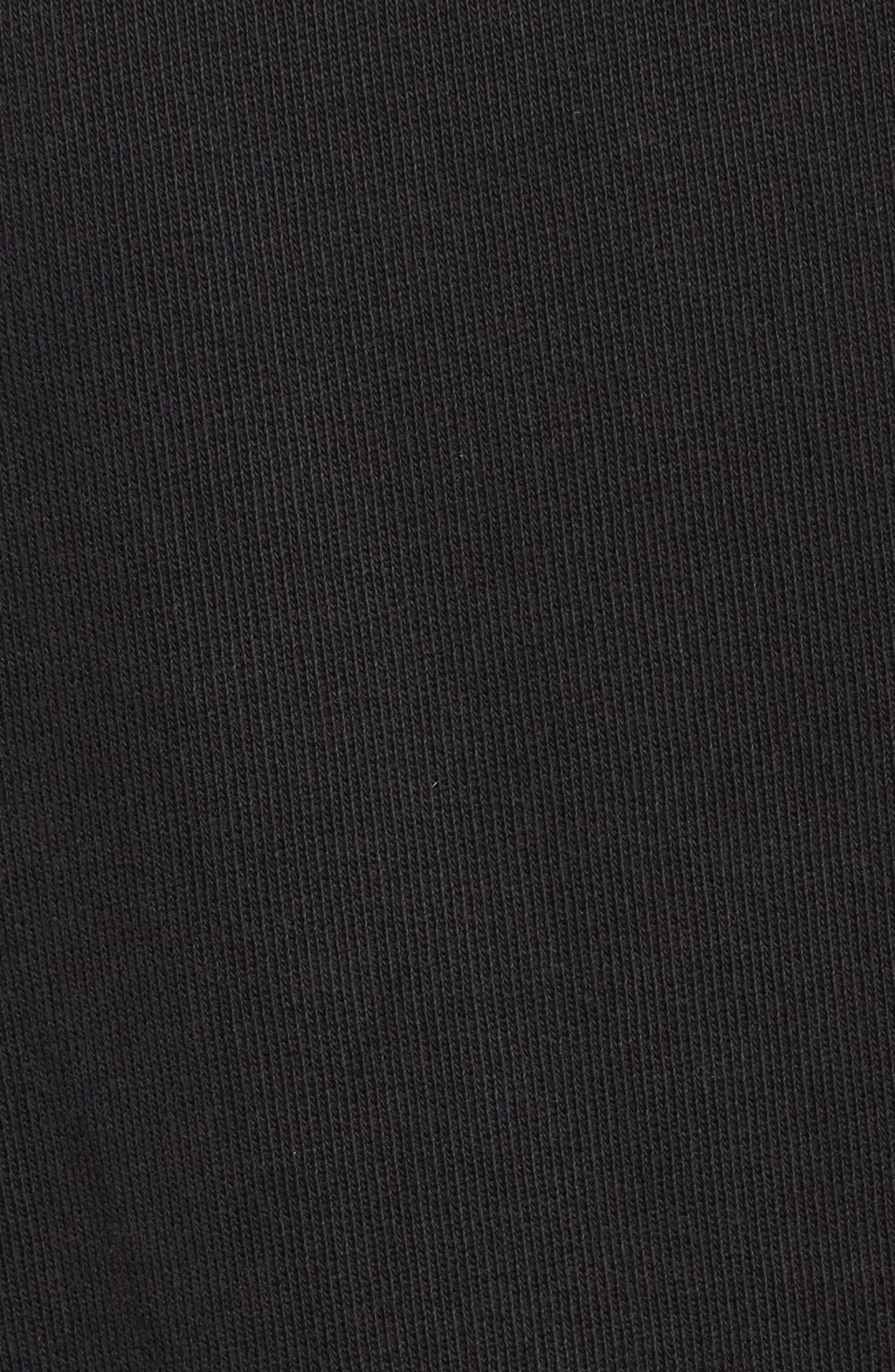 Distressed Boyfriend Sweatshirt,                             Alternate thumbnail 5, color,                             Black