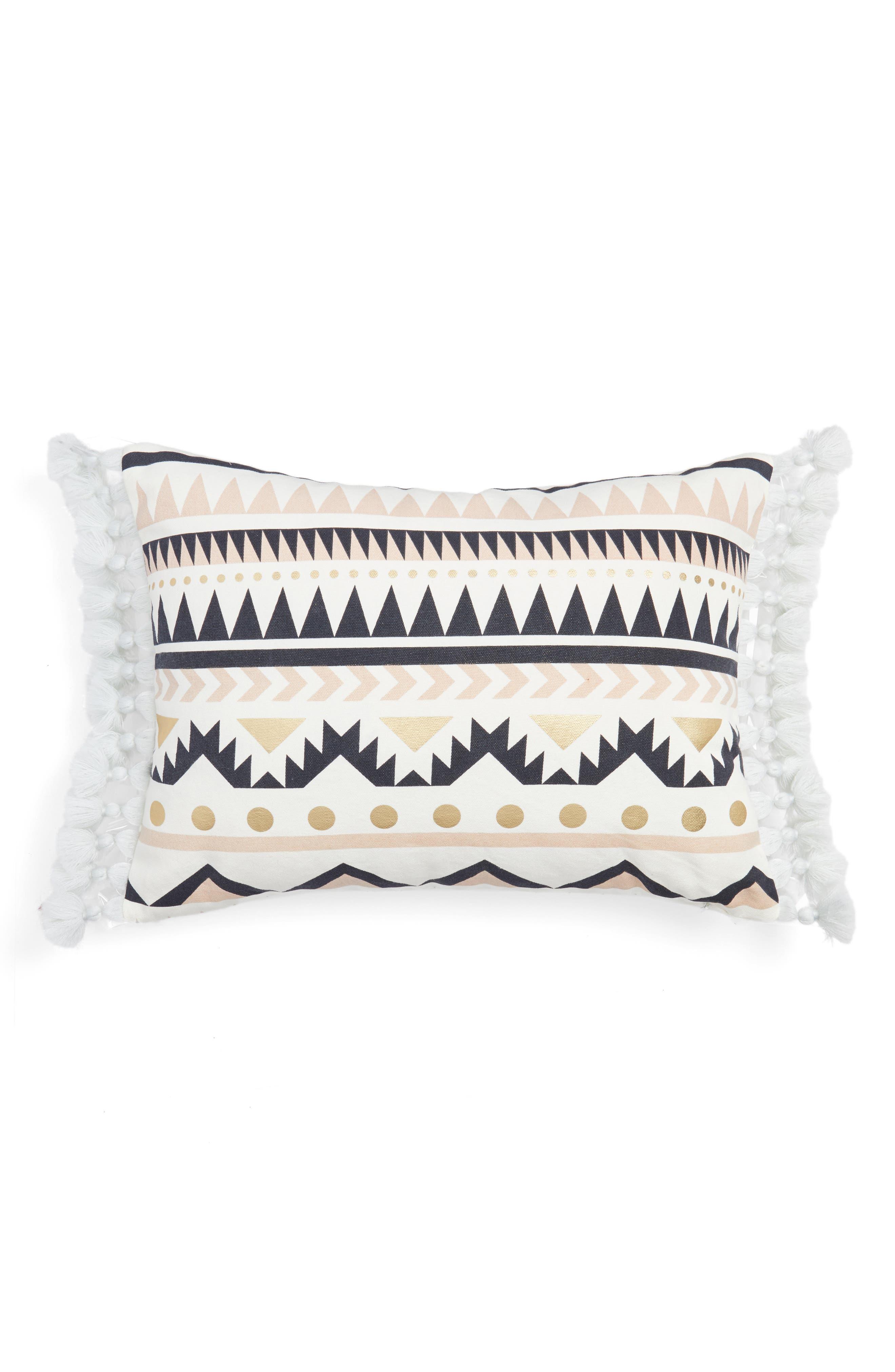 Geo Print Pillow,                         Main,                         color, White