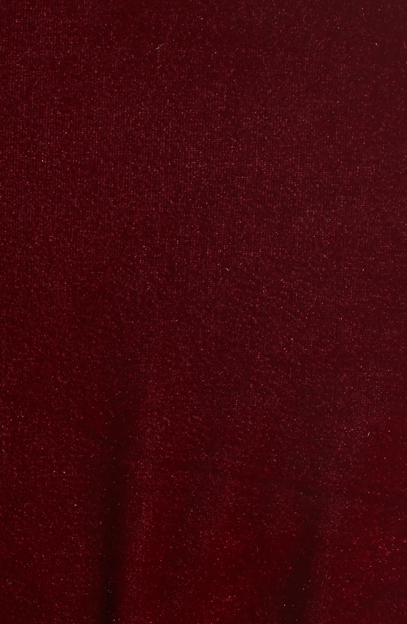 Alternate Image 5  - L'Academie The Adela Velvet Smoking Jacket