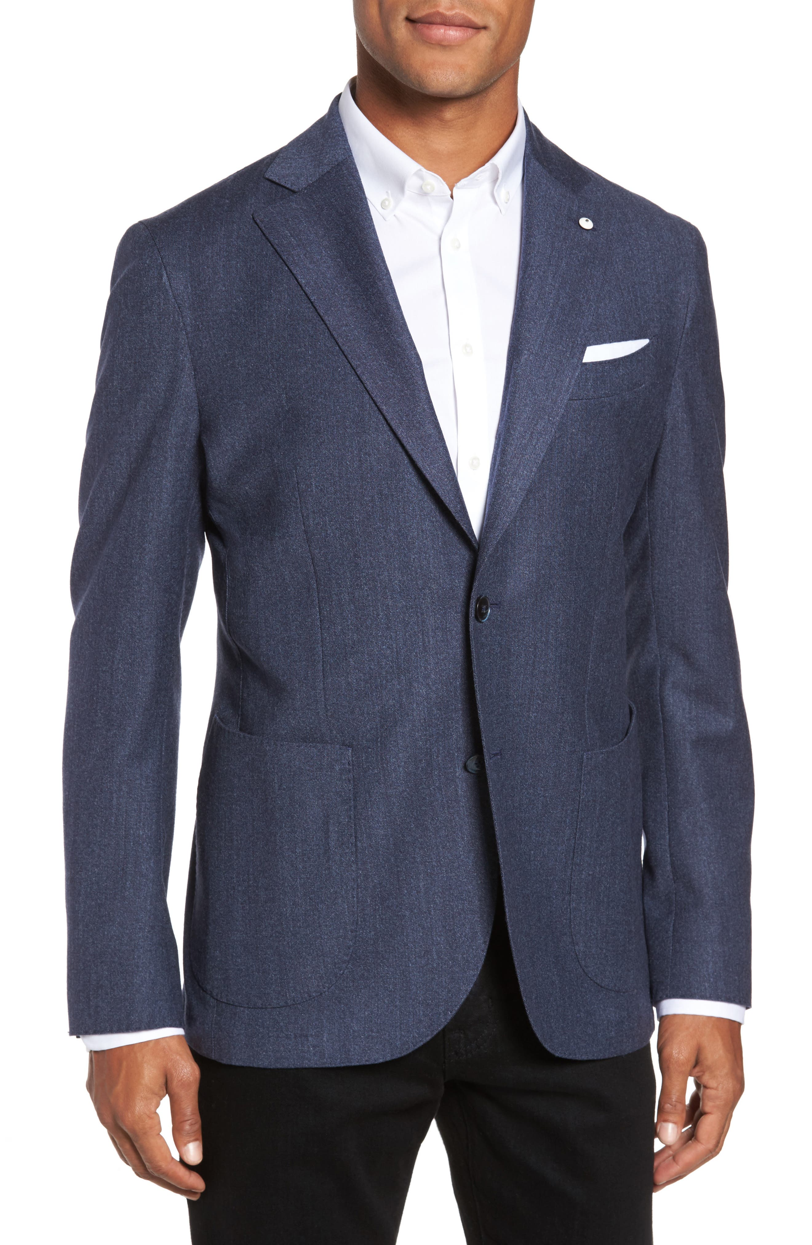 Main Image - L.B.M. 1911 Classic Fit Wool Blazer