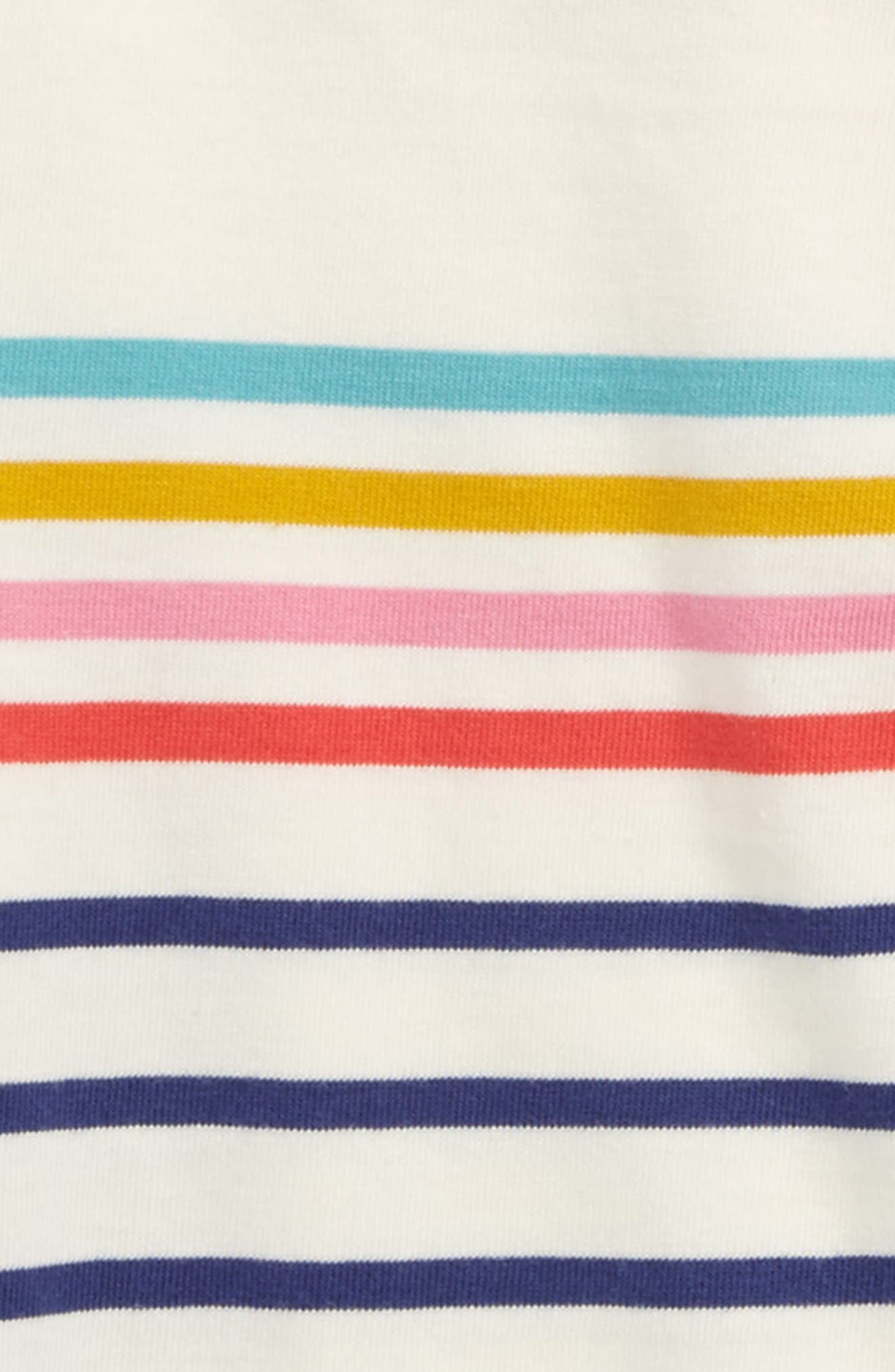 Colourfully Stripy Tee,                             Alternate thumbnail 2, color,                             Navy/ Ecru Rainbow