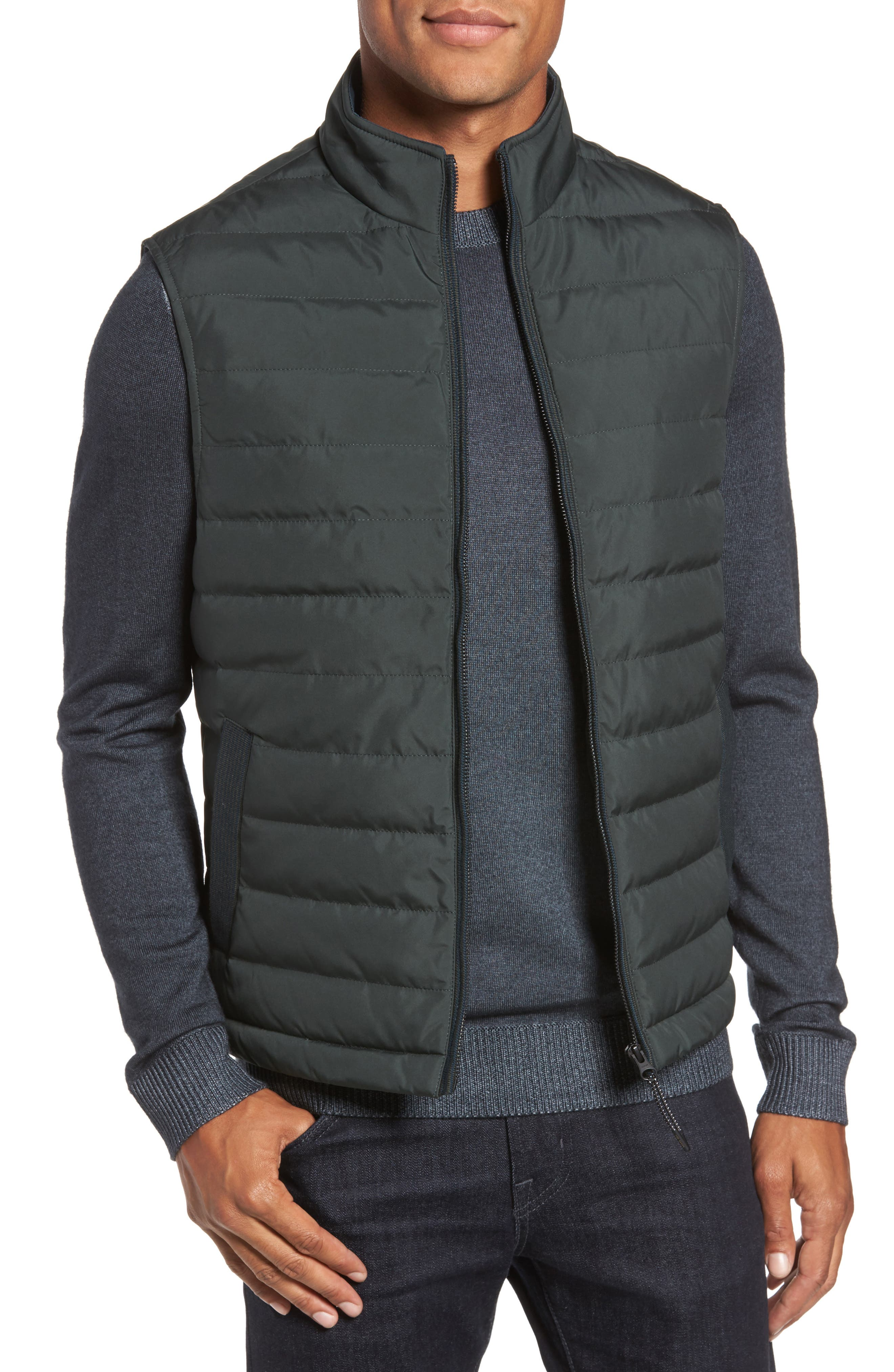 Ted Baker London Jozeph Quilted Down Vest