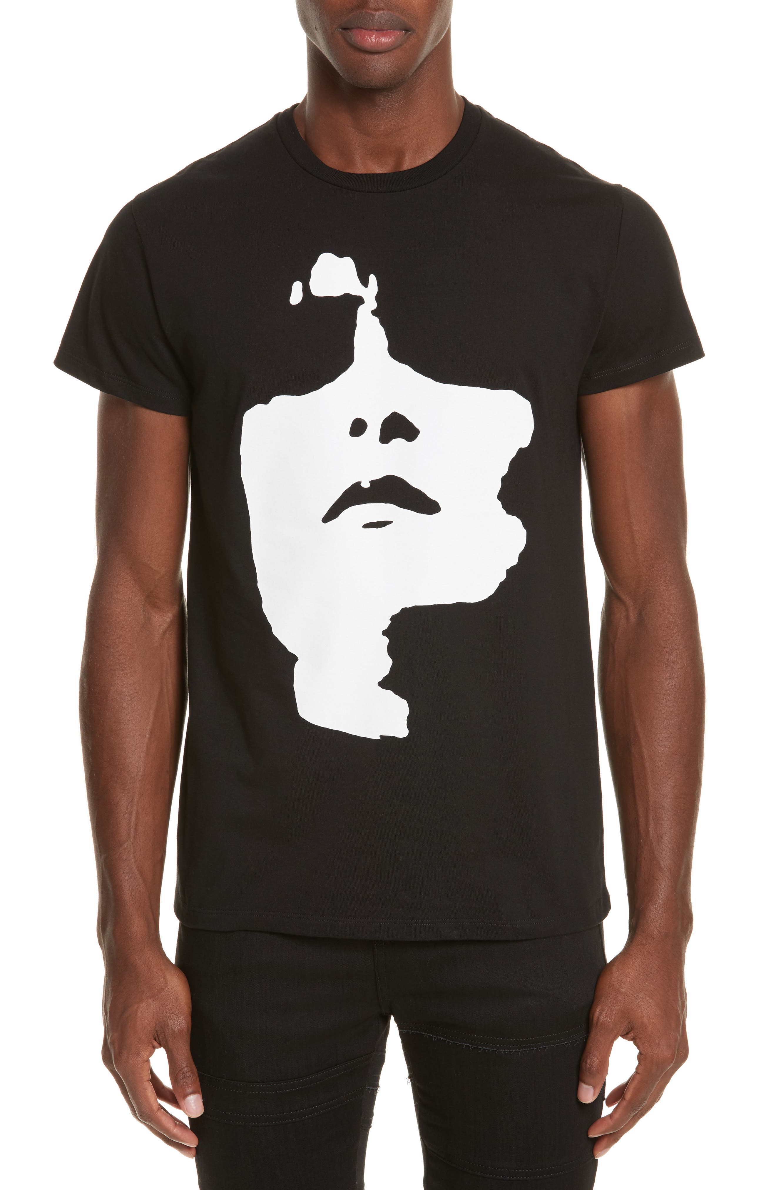 Siouxsie Face Graphic T-Shirt,                         Main,                         color, Black/ White