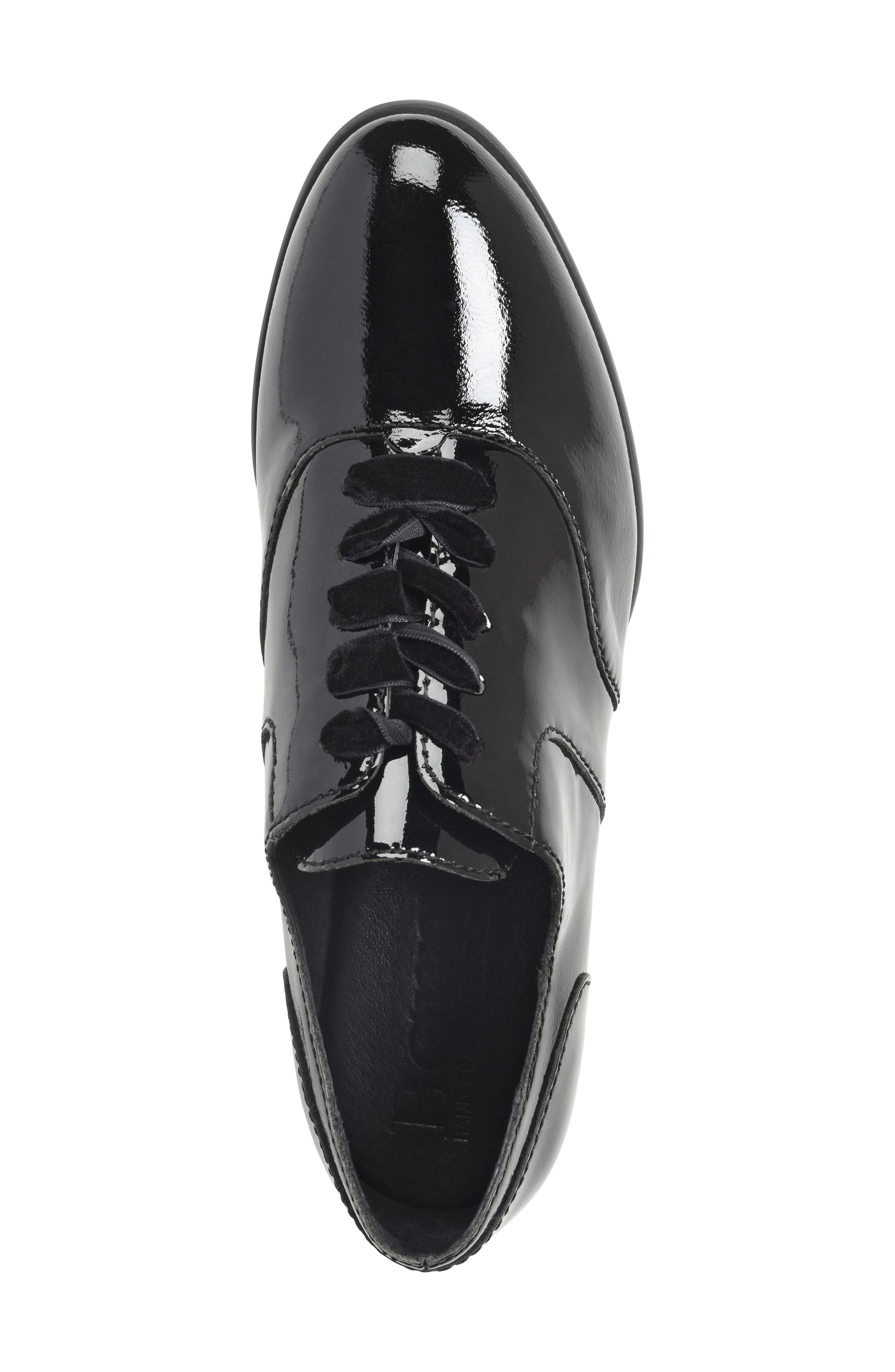 Eden Flat,                             Alternate thumbnail 5, color,                             Black Patent Leather