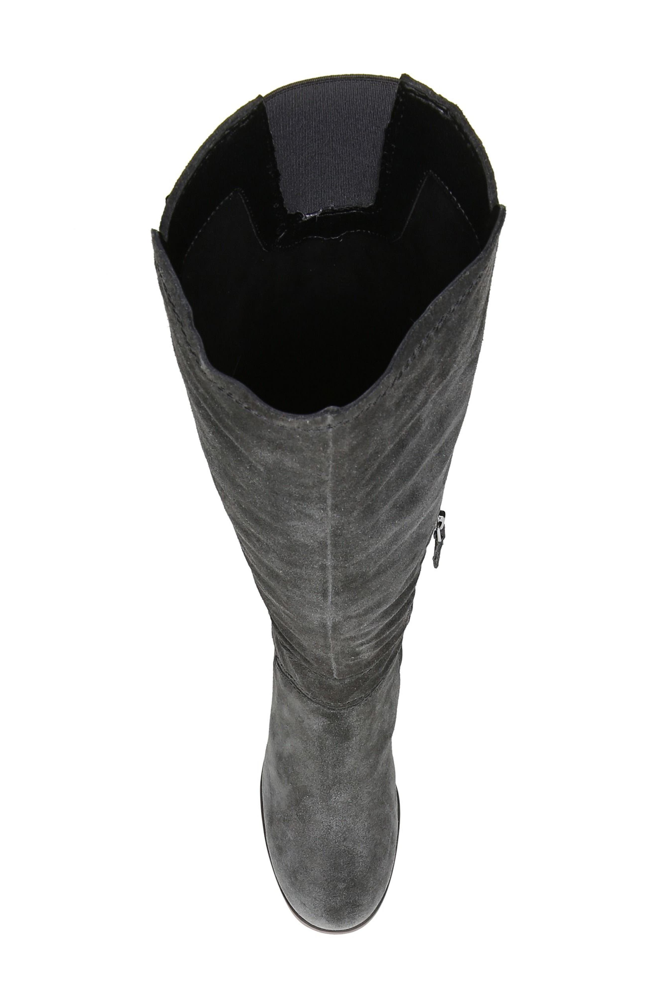 Mystic Knee High Boot,                             Alternate thumbnail 5, color,                             Coal Suede