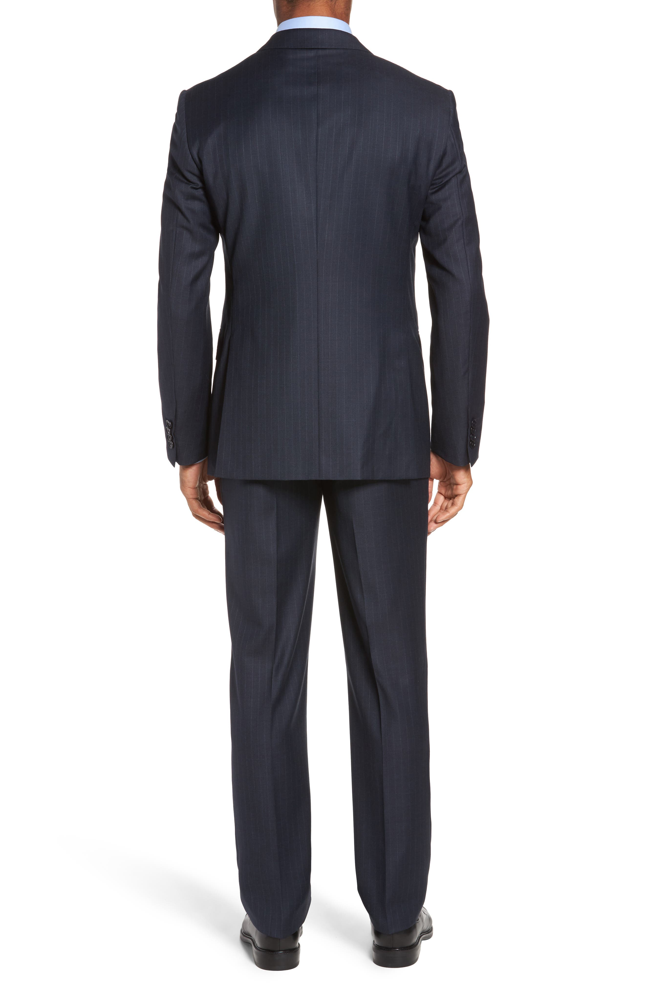 Alternate Image 2  - Pal Zileri Classic Fit Banker Stripe Wool Suit