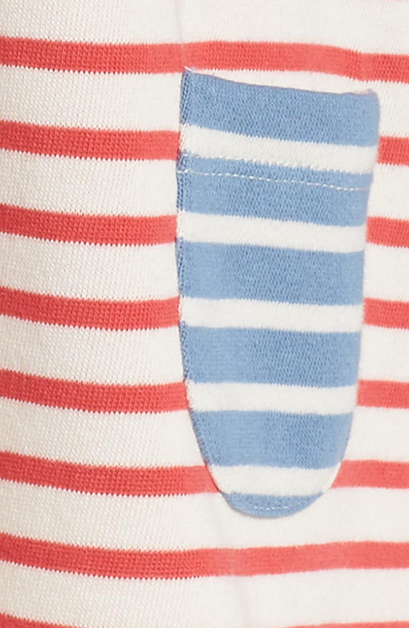 Cozy Peter Pan Collar Sweatshirt Dress,                             Alternate thumbnail 3, color,                             Hotchpotch Stripe