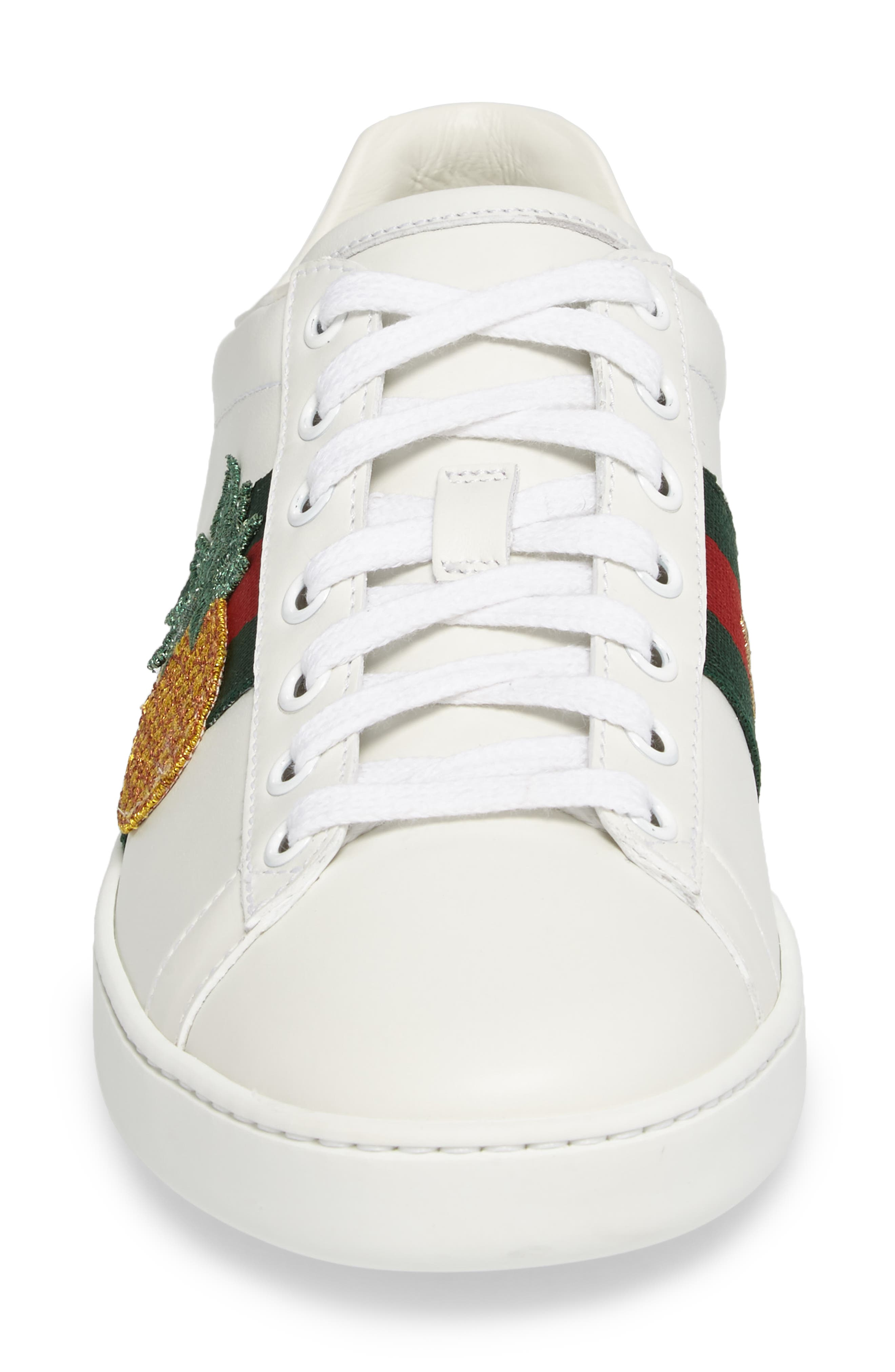 Alternate Image 4  - Gucci New Ace Pineapple Sneaker (Women)