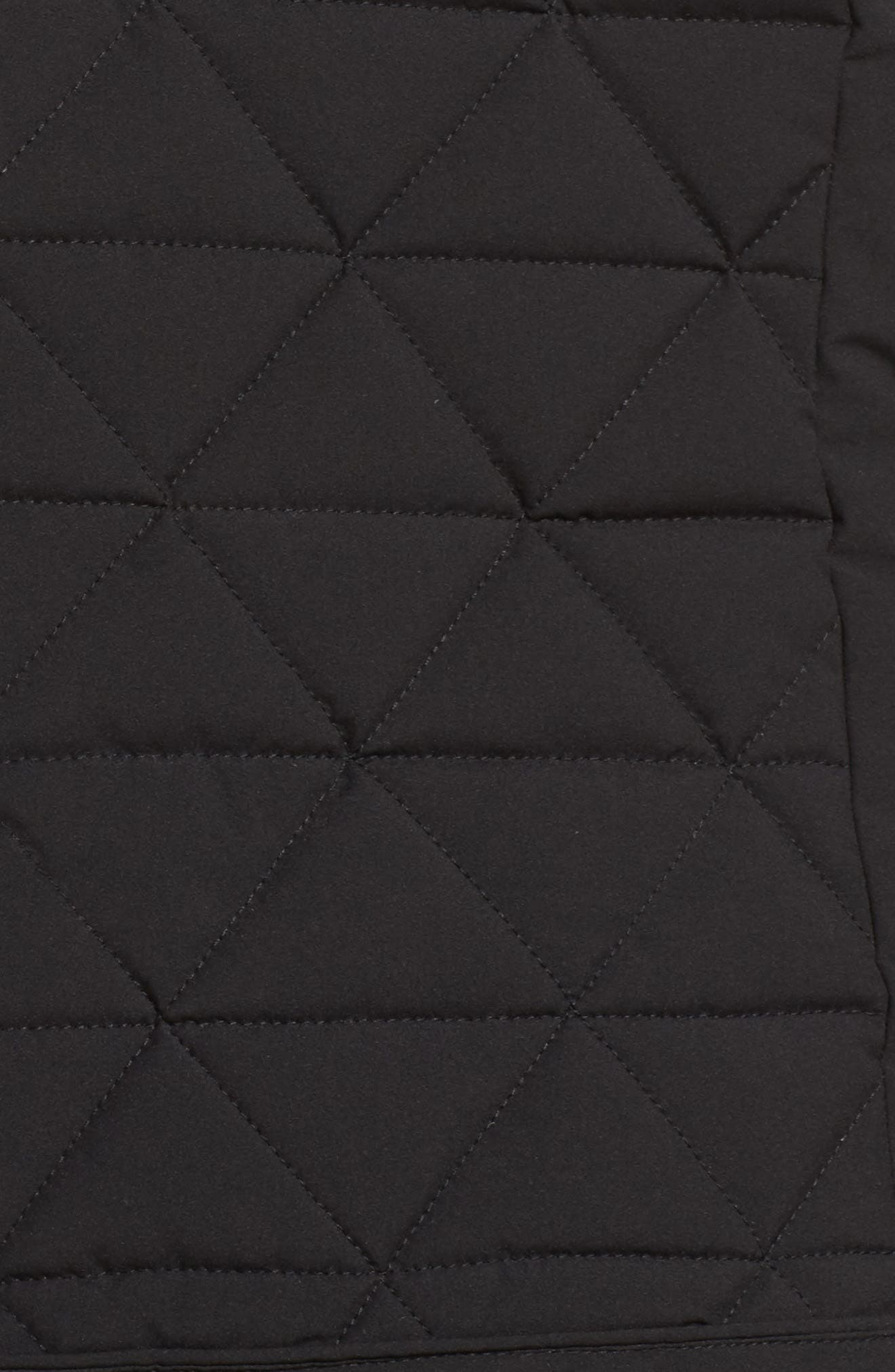 Sage Quilted Vest,                             Alternate thumbnail 5, color,                             Black