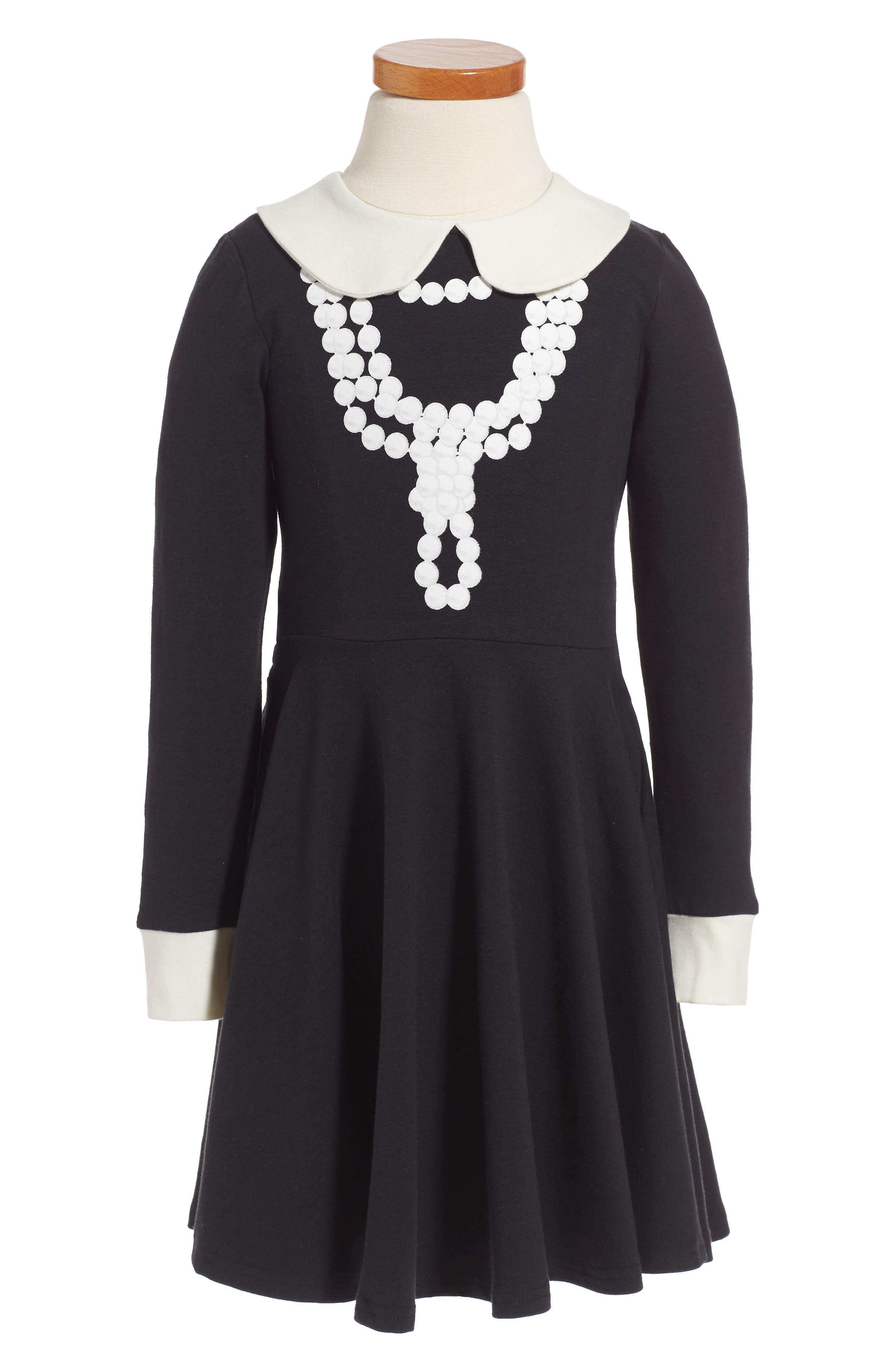 Coco Fit & Flare Dress,                             Main thumbnail 1, color,                             Black