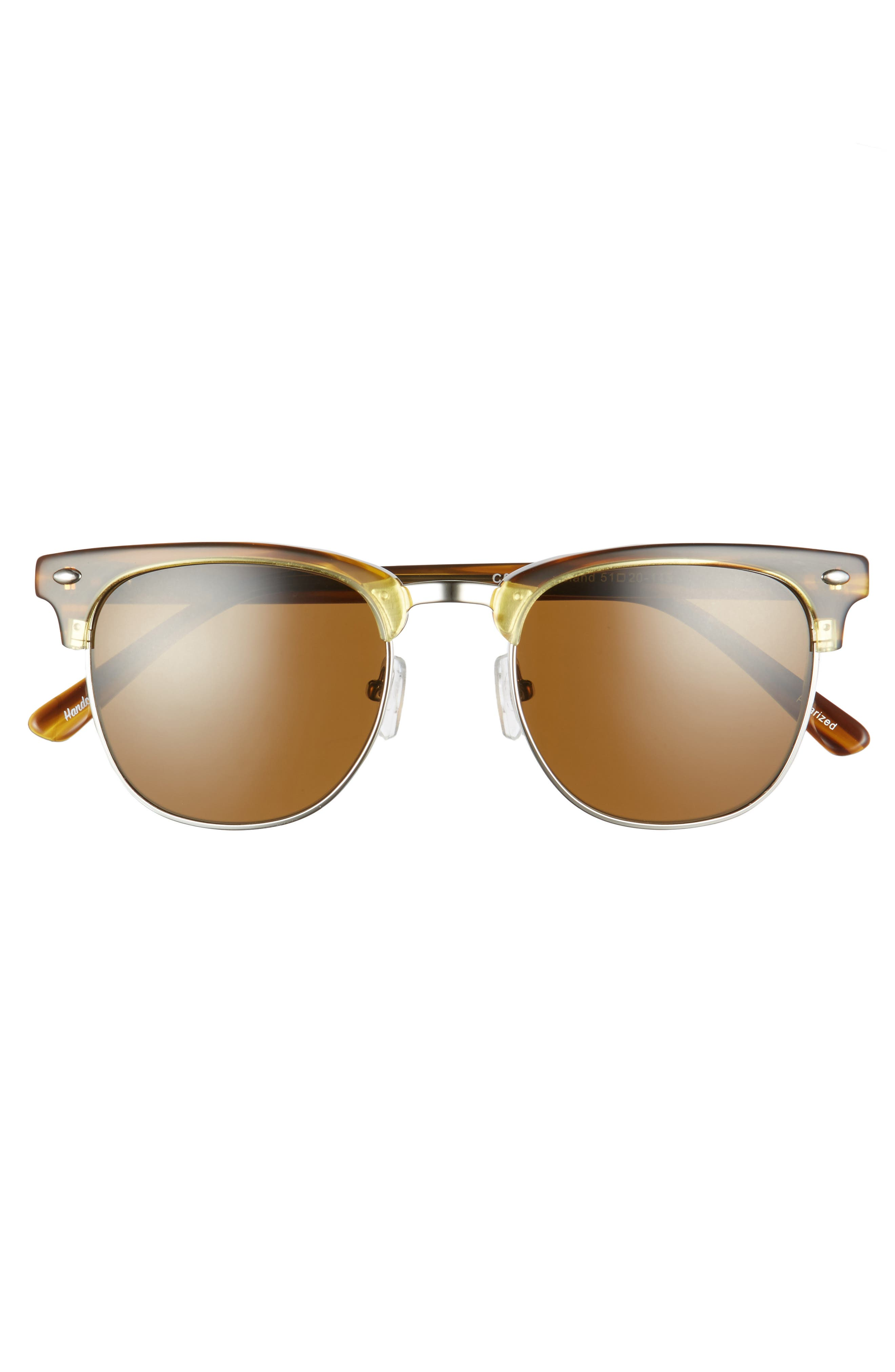 Copeland 51mm Polarized Sunglasses,                             Alternate thumbnail 3, color,                             Amber/ Brown Polar