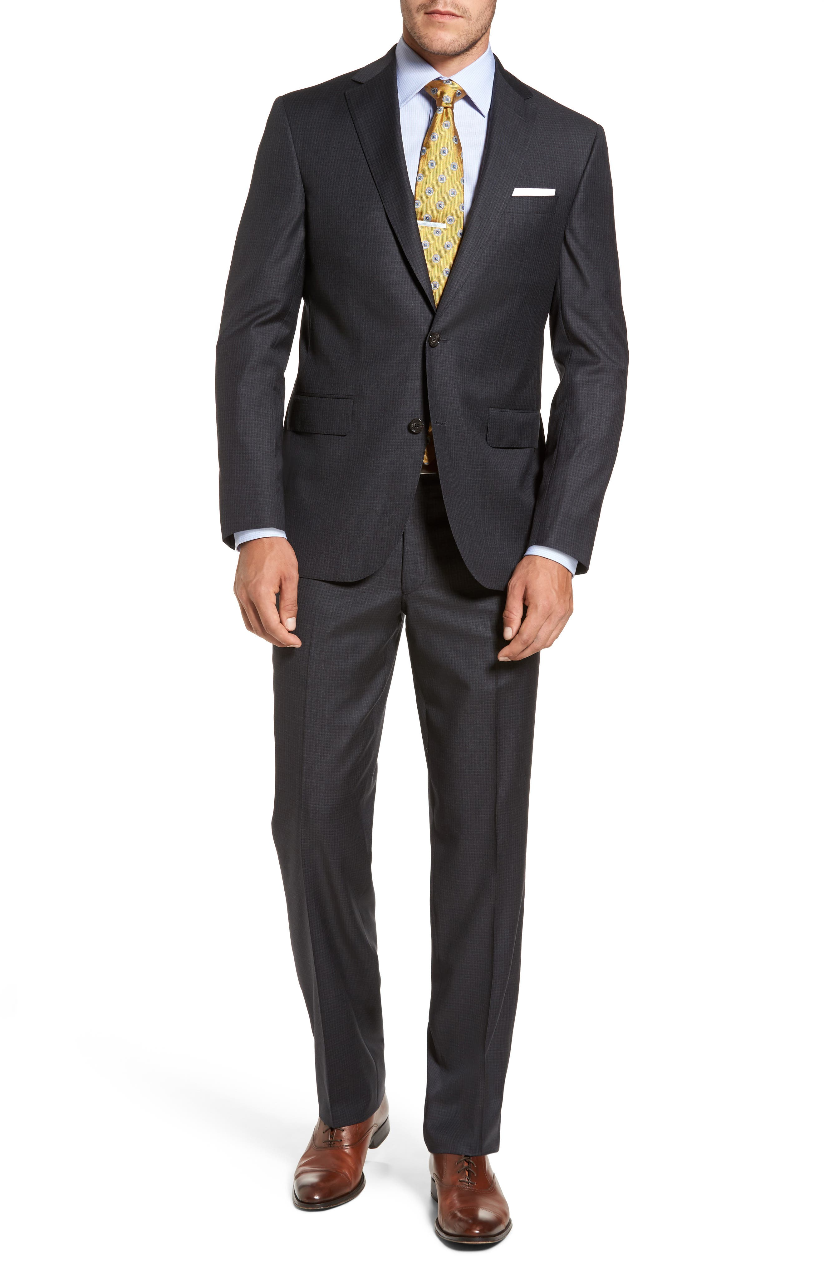 Main Image - David Donahue Ryan Classic Fit Check Wool Suit