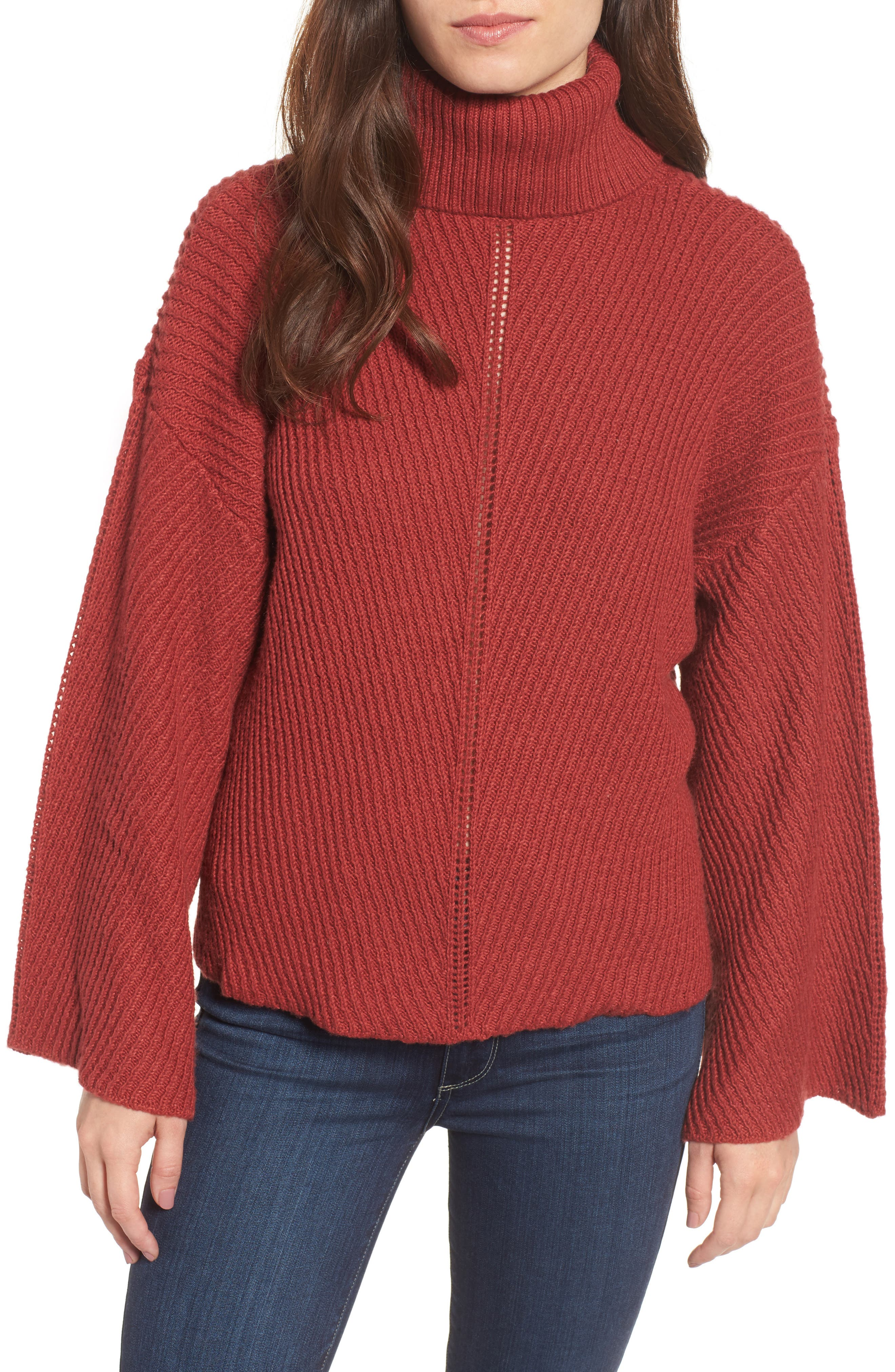 Main Image - cupcakes and cashmere Randy Turtleneck Sweater