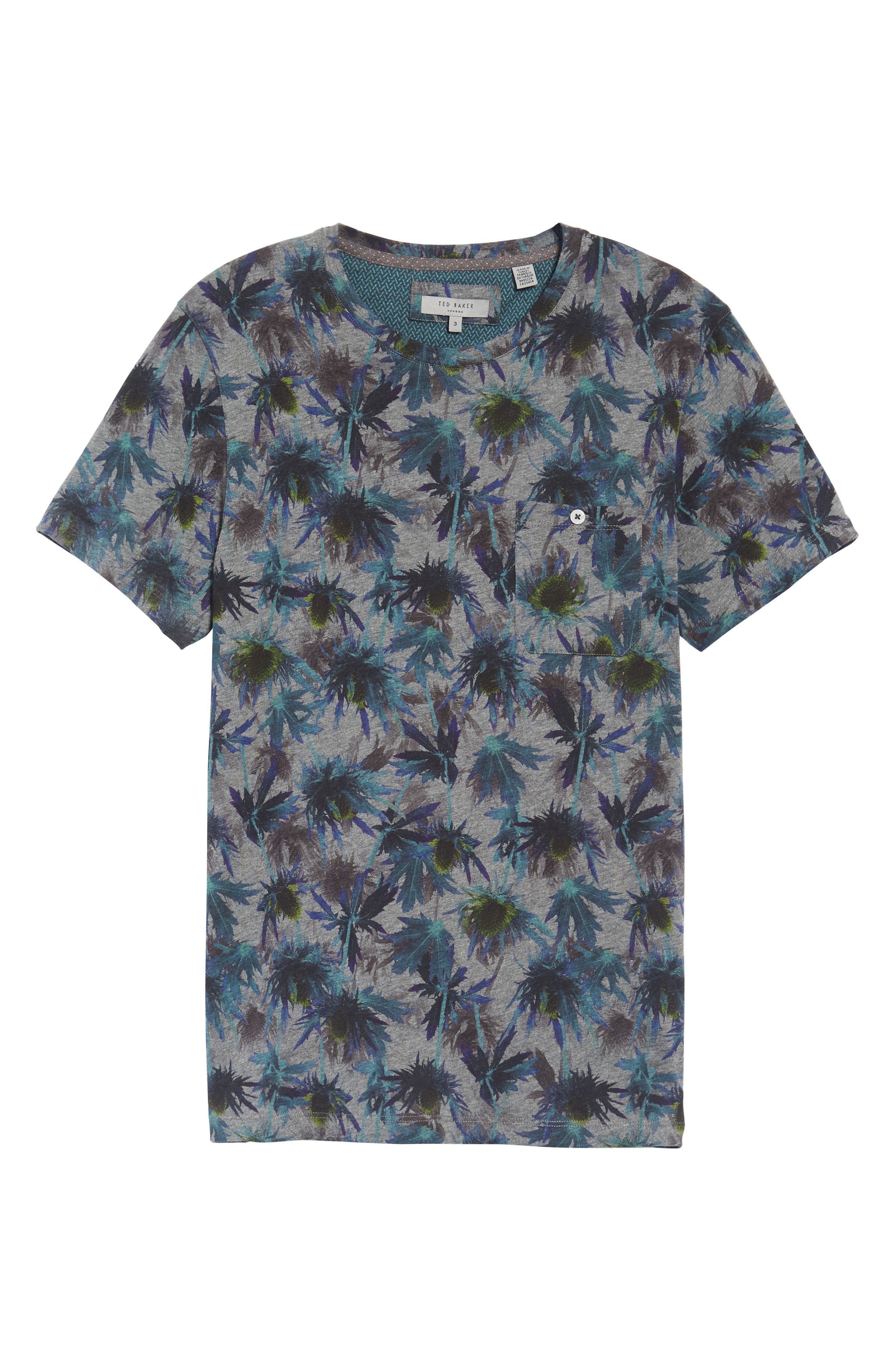Katatak Thistle Print T-Shirt,                             Alternate thumbnail 6, color,                             Grey