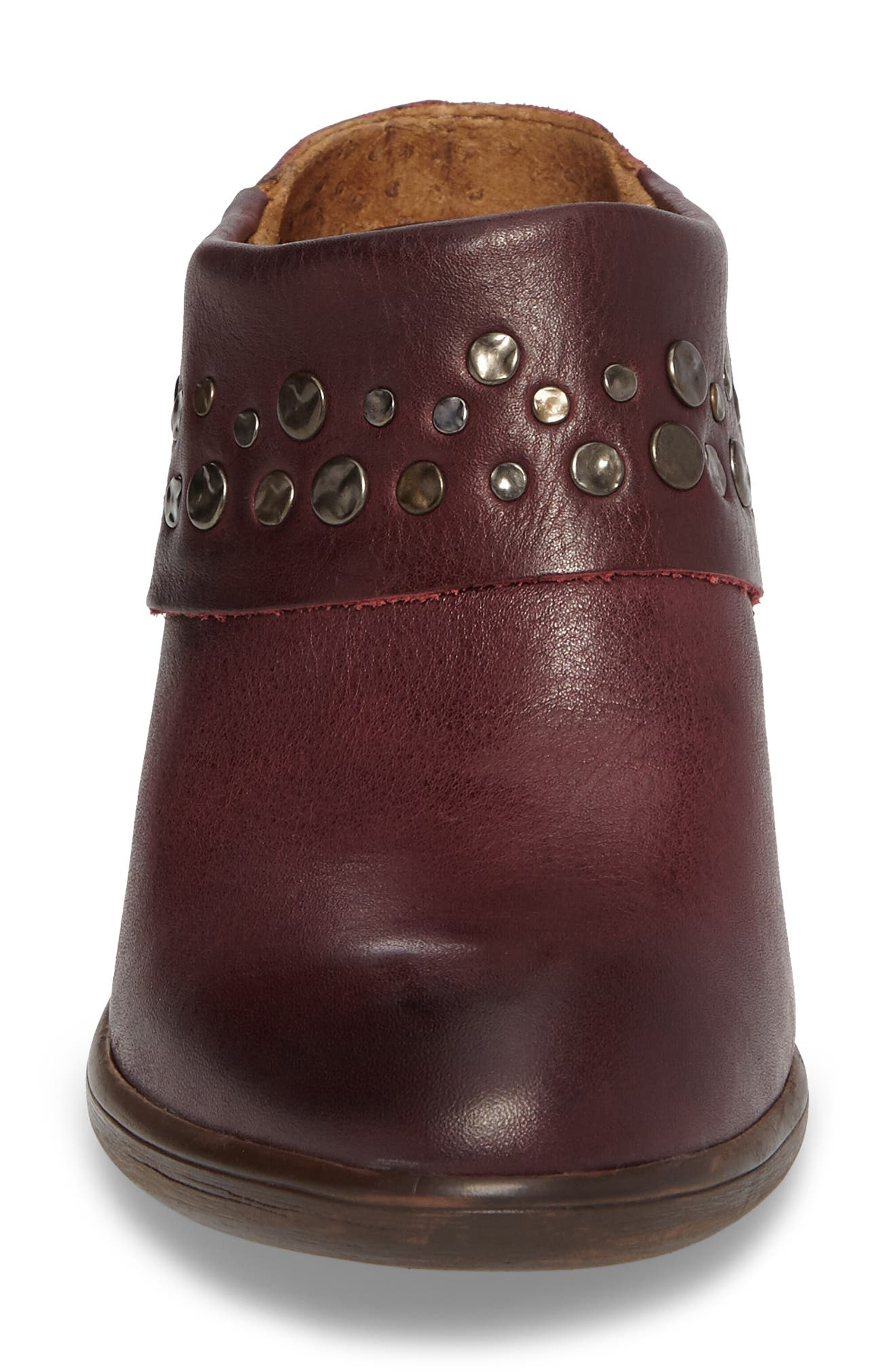 Gila Studded Mule,                             Alternate thumbnail 4, color,                             Marsala Red Leather