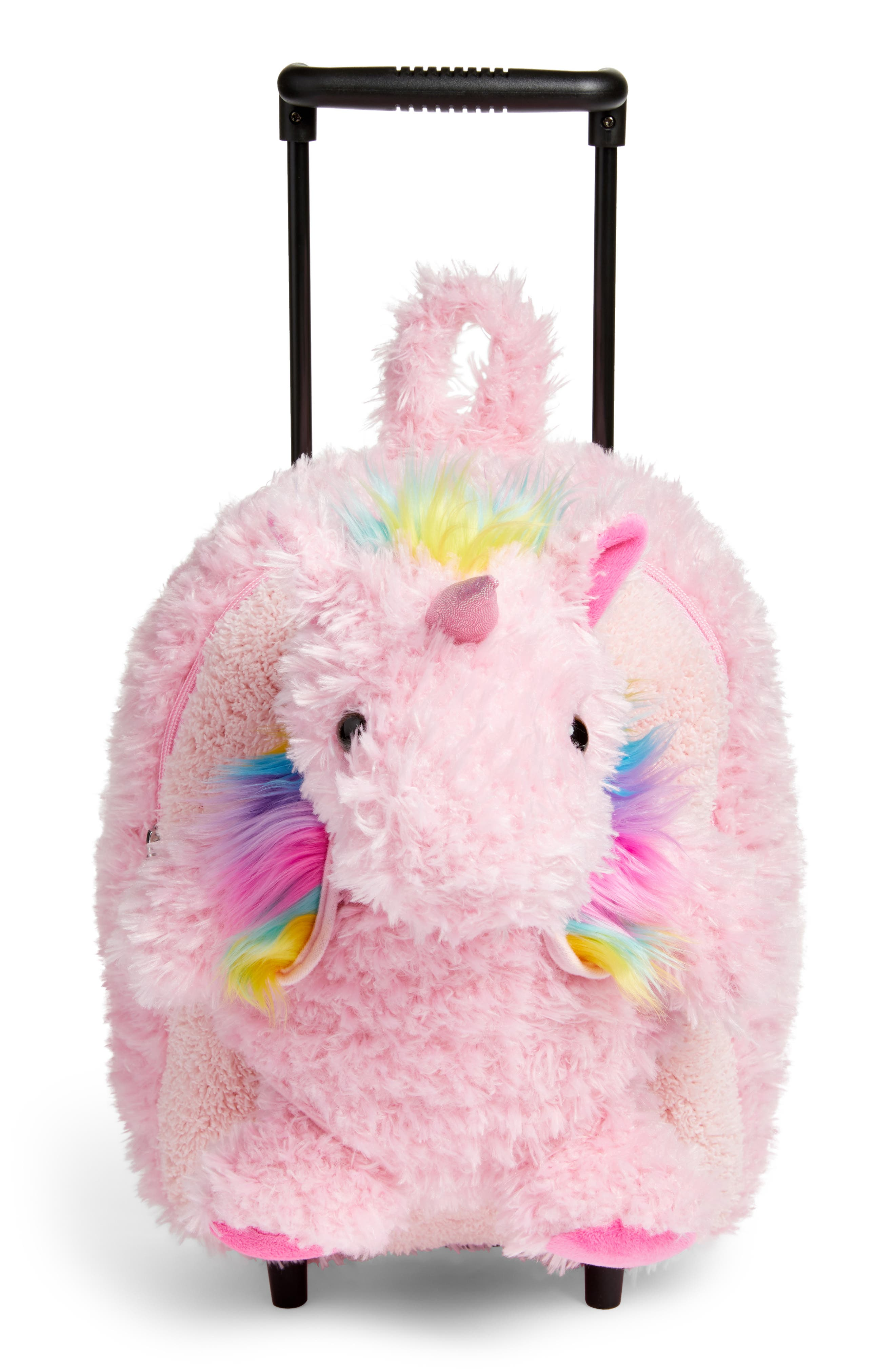 Unicorn Trolley Rolling Backpack,                             Main thumbnail 1, color,                             Pink Multi
