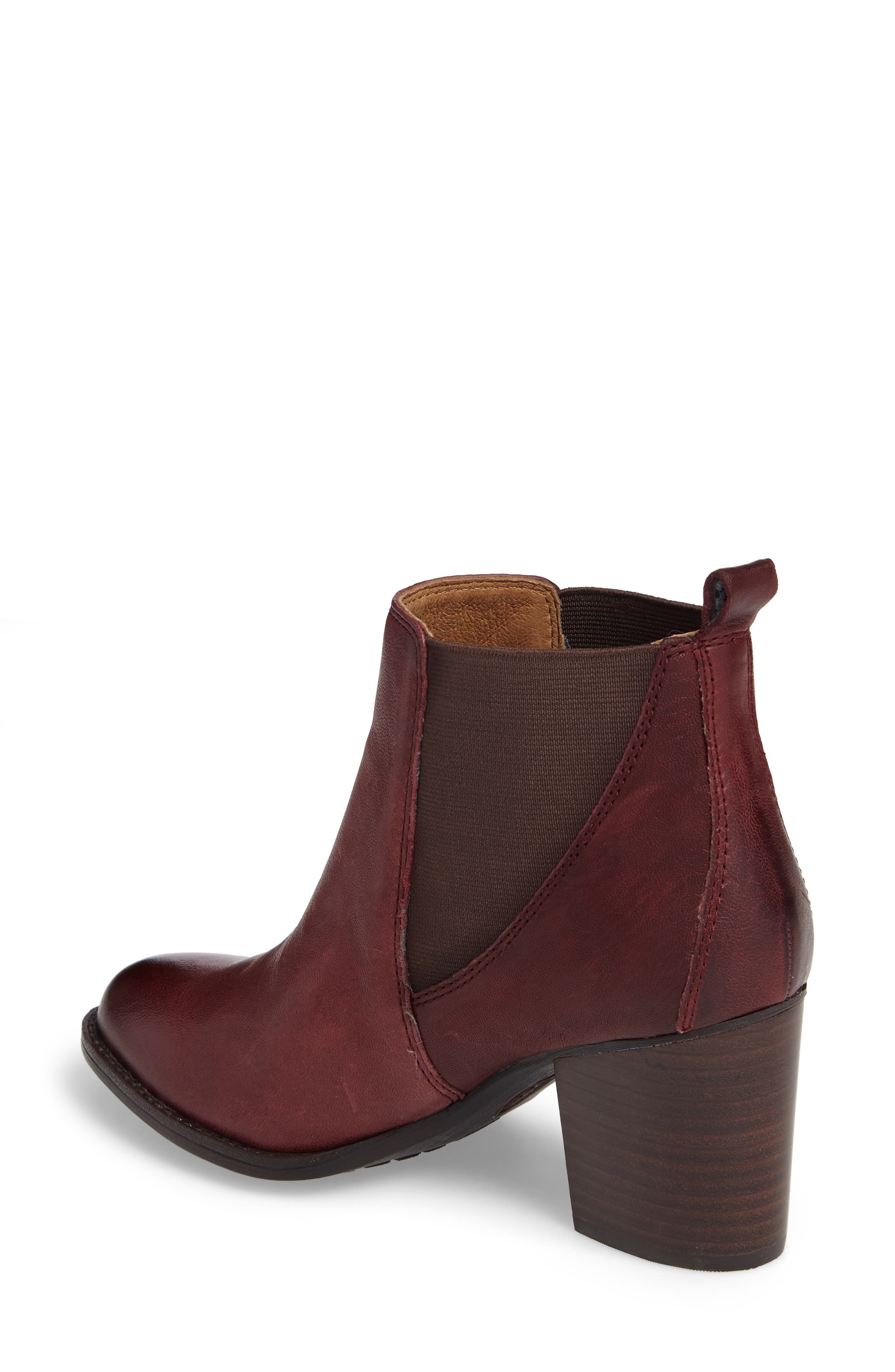 Welling Bootie,                             Alternate thumbnail 2, color,                             Wine Red Leather