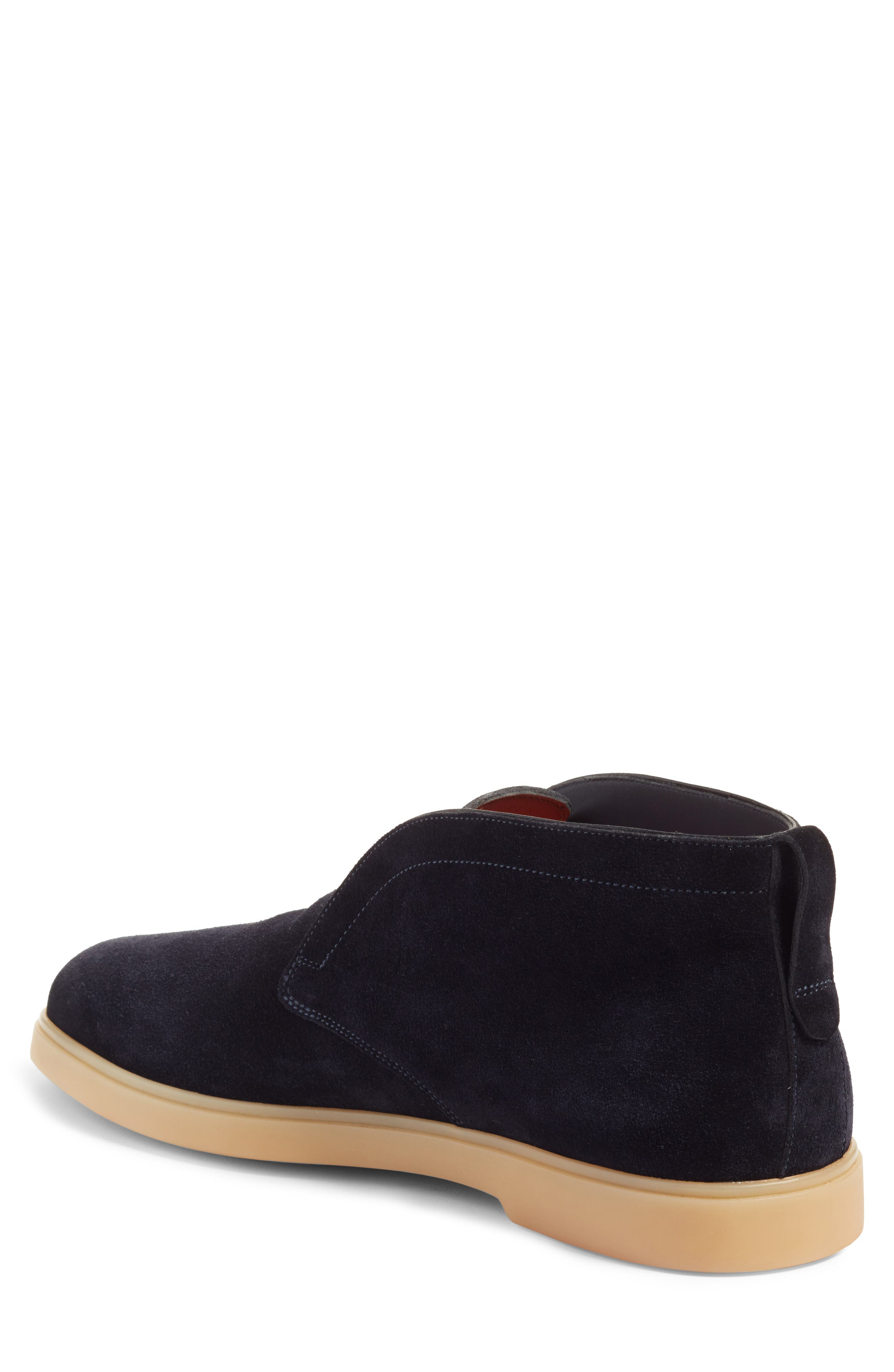 Gus Laceless Chukka Boot,                             Alternate thumbnail 2, color,                             Blue Suede