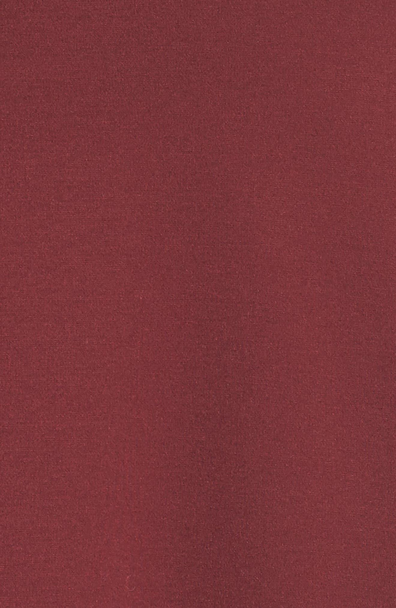 Alternate Image 5  - Sejour Ruffle Ponte Dress (Plus Size)