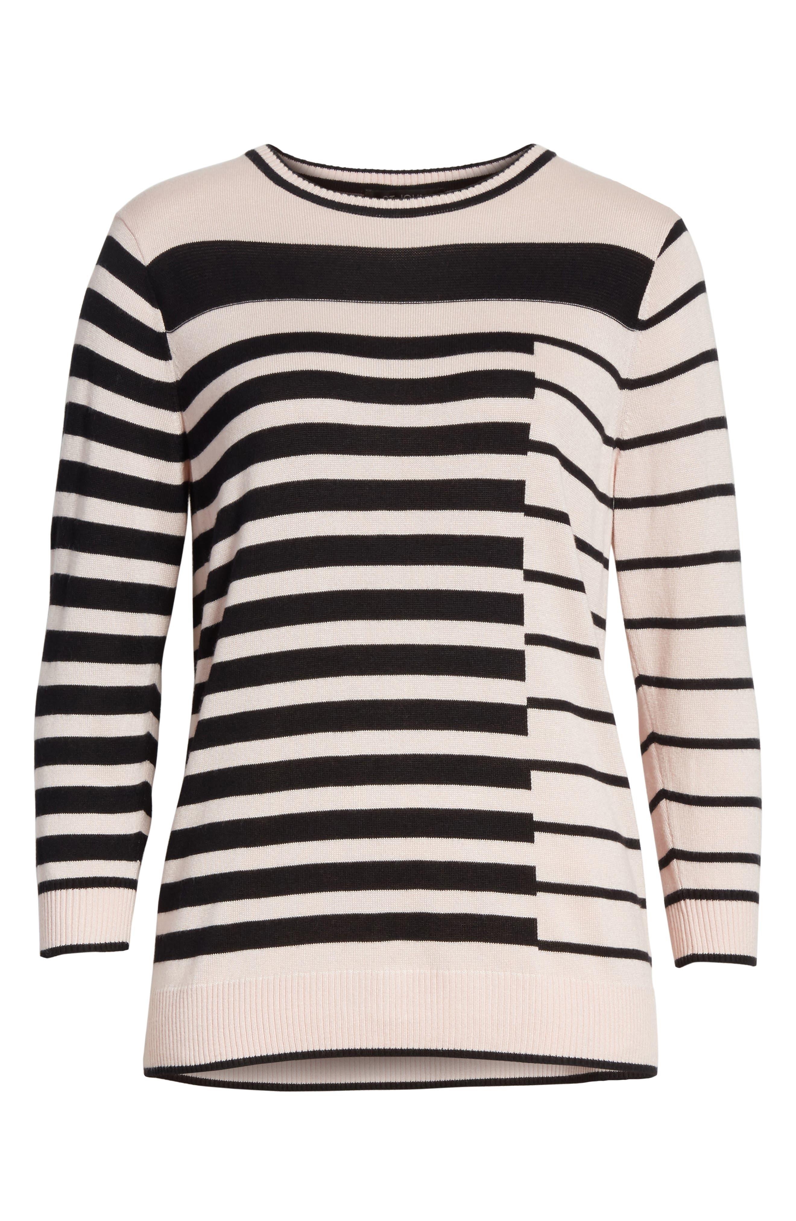 Alternate Image 7  - St. John Collection Intarsia Stripe Sweater