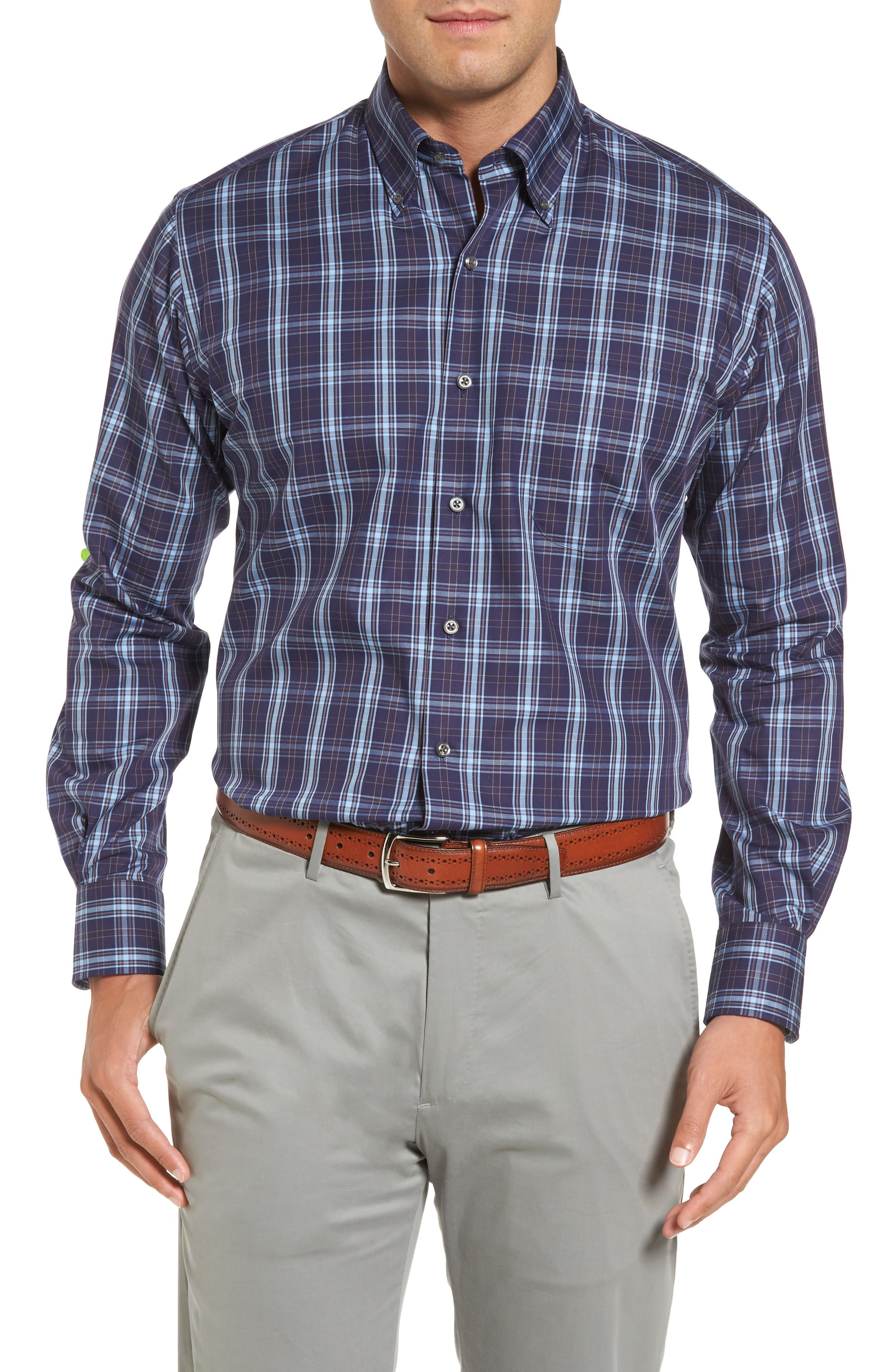 Alternate Image 1 Selected - Peter Millar Regular Fit Blackfoot Plaid Sport Shirt