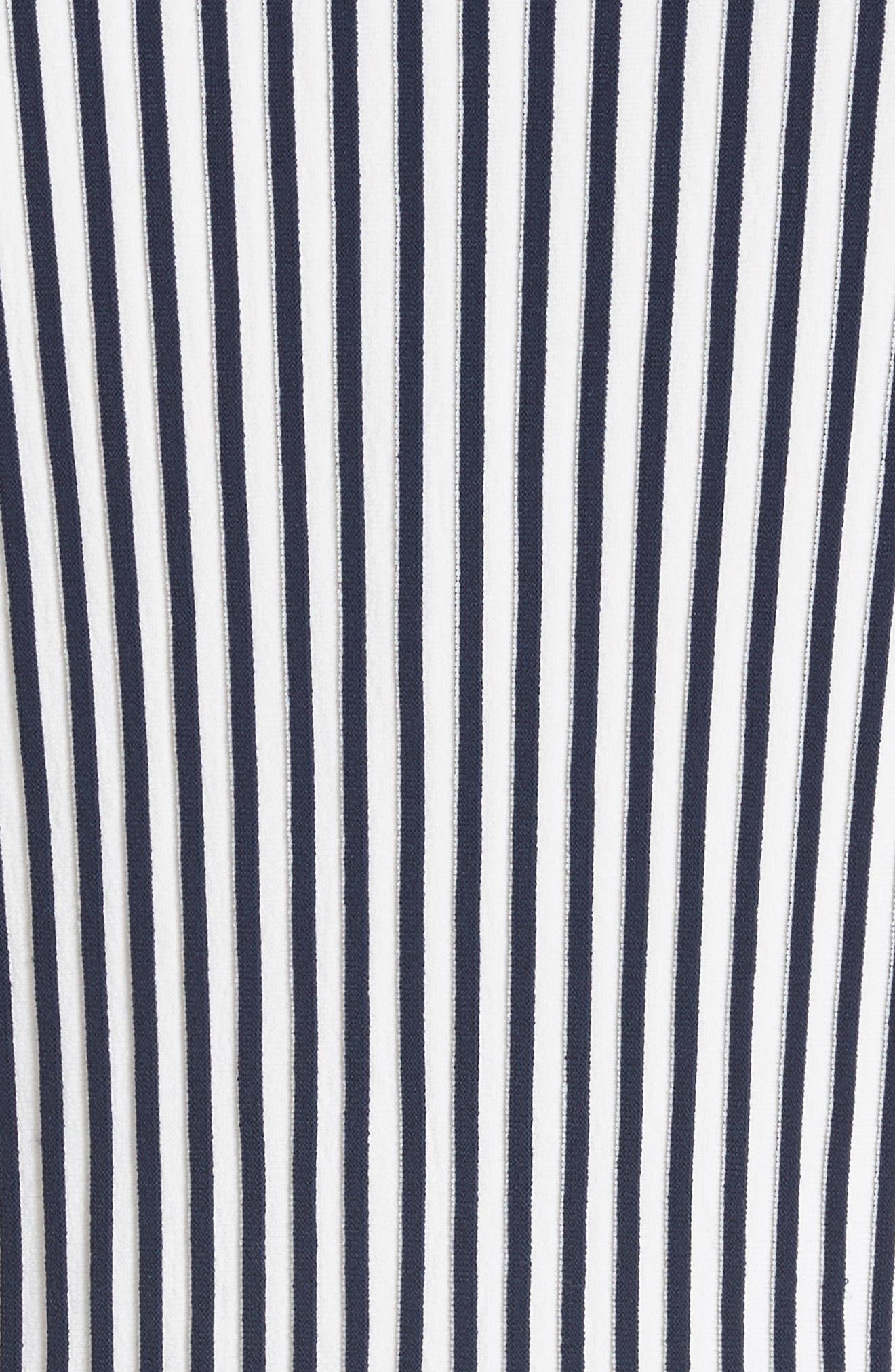 Stripe Knit Day Dress,                             Alternate thumbnail 6, color,                             Navy / Chalk