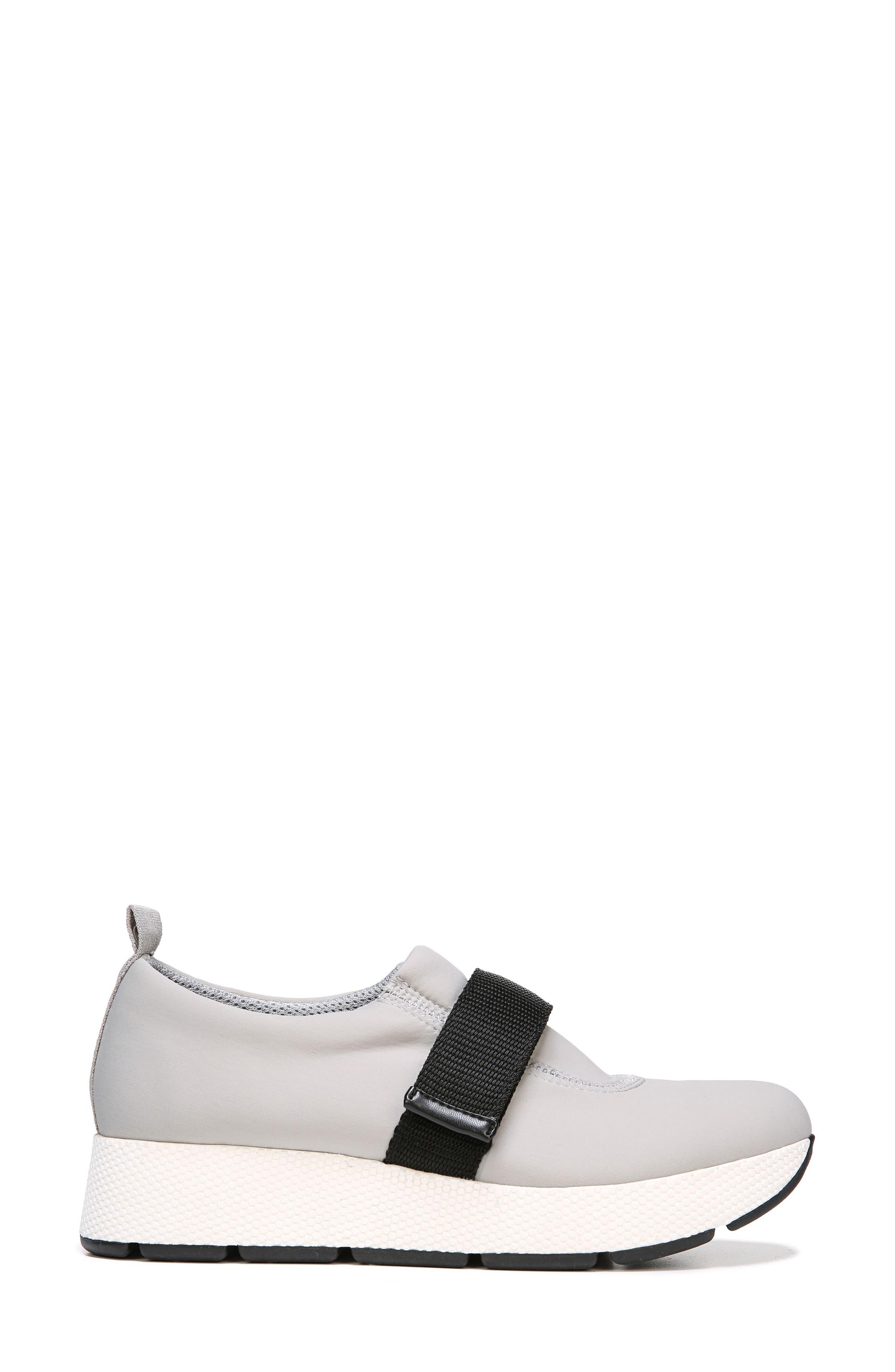 Odella Slip-On Sneaker,                             Alternate thumbnail 3, color,                             Light Grey Fabric