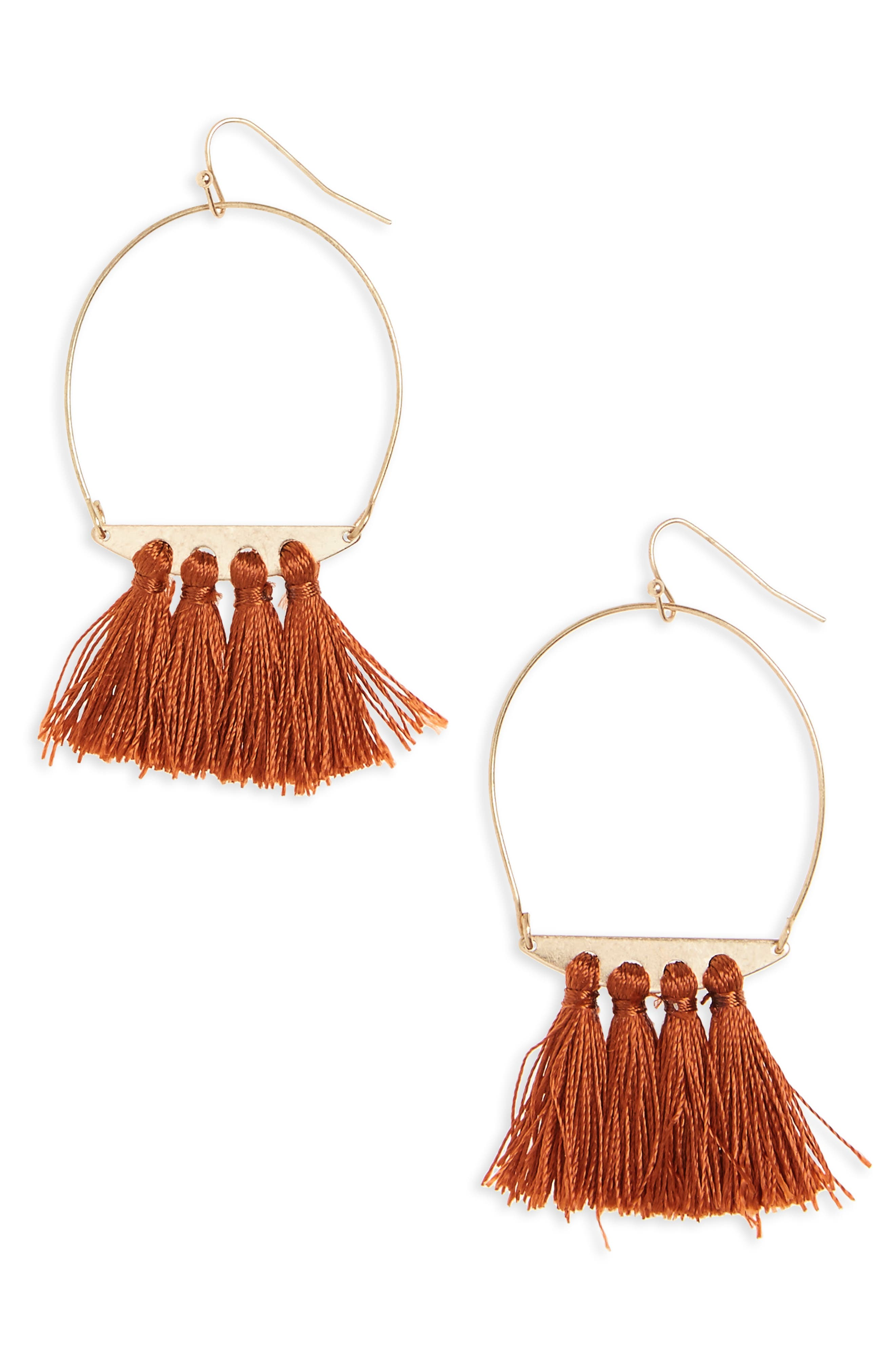 PANACEA Tassel Hoop Earrings