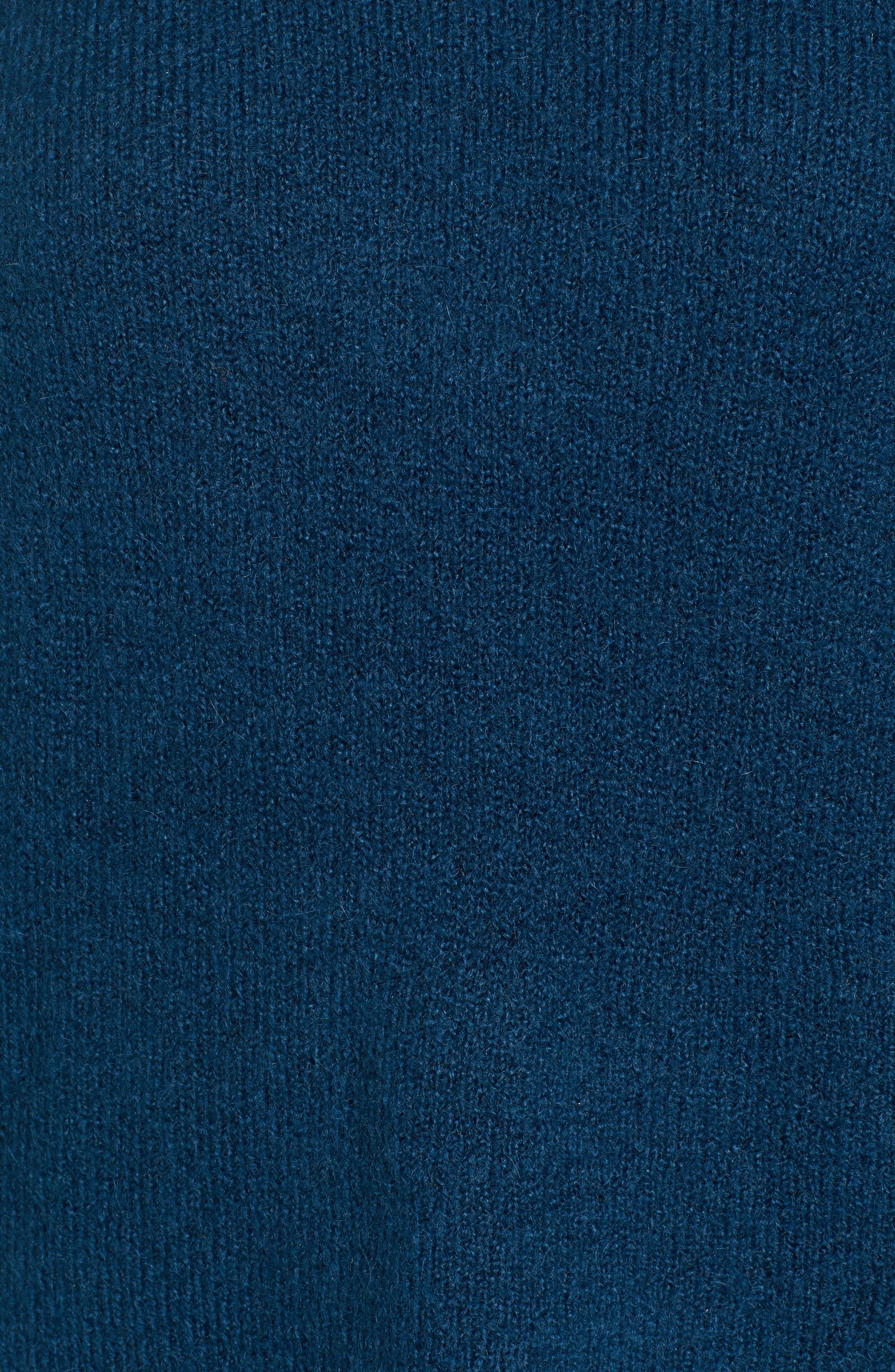 Snap Shoulder Sweater,                             Alternate thumbnail 6, color,                             Blue Ceramic
