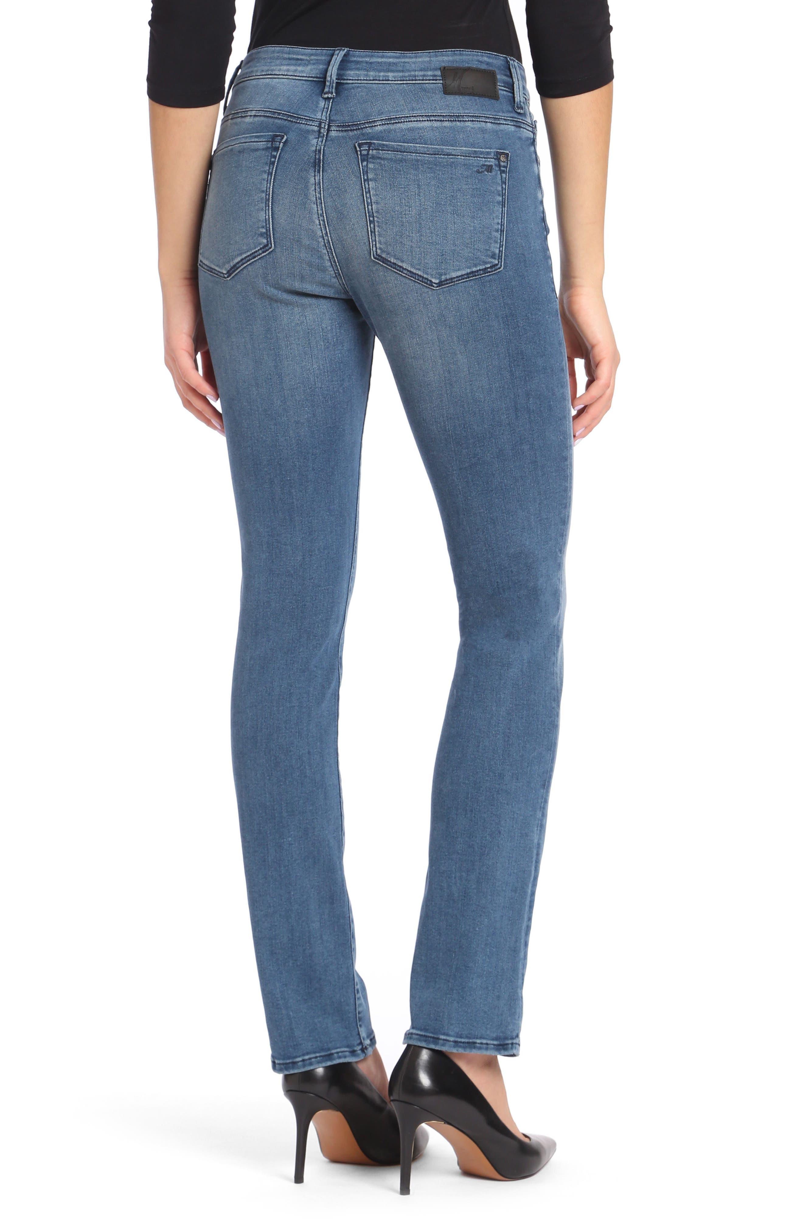 Kendra High Waist Straight Leg Jeans,                             Alternate thumbnail 2, color,                             Light Foggy Blue Tribeca