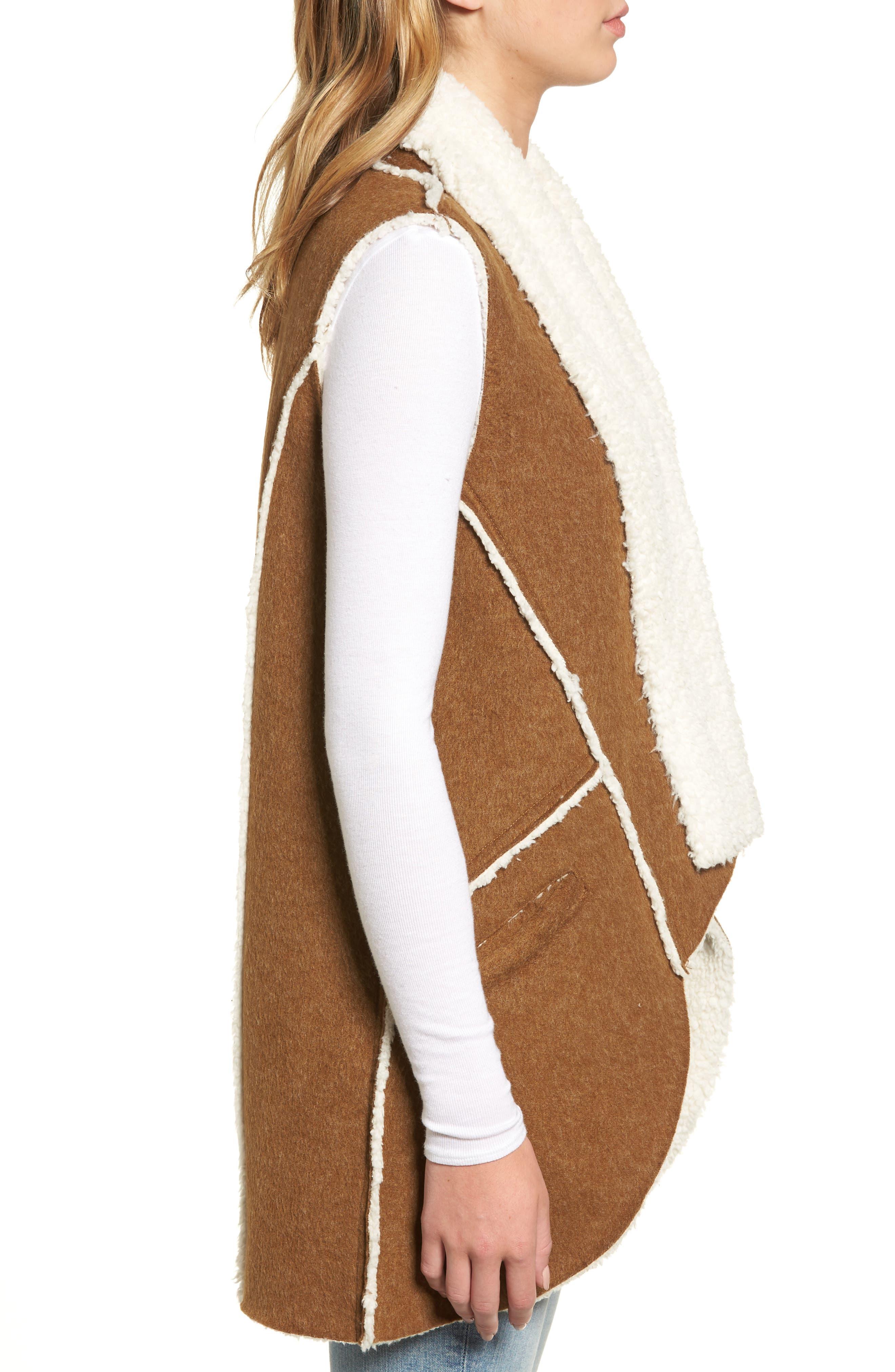 Alternate Image 3  - Dylan Flannel Faux Shearling Vest