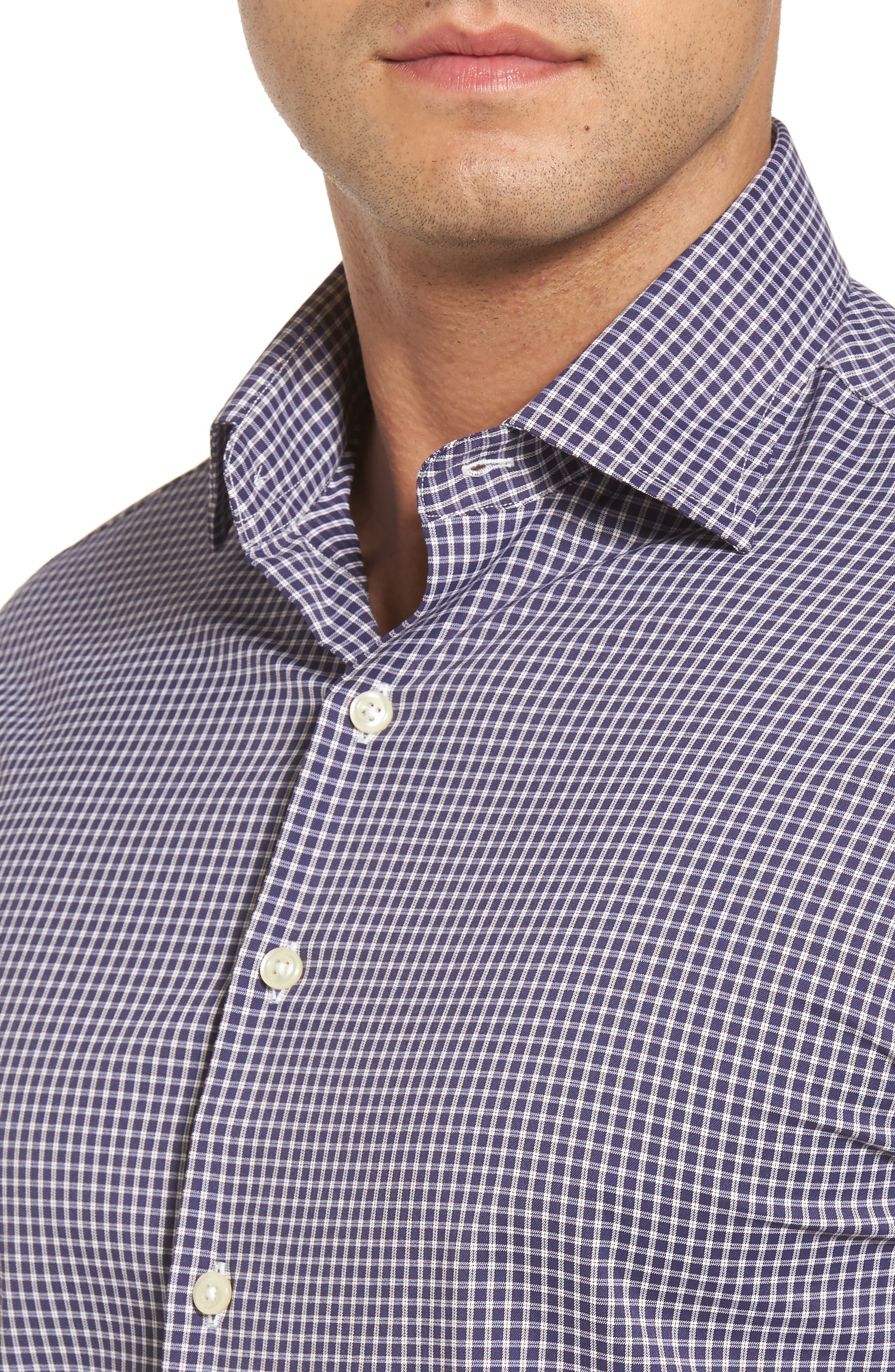 Alternate Image 4  - Peter Millar Statler Regular Fit Check Performance Sport Shirt