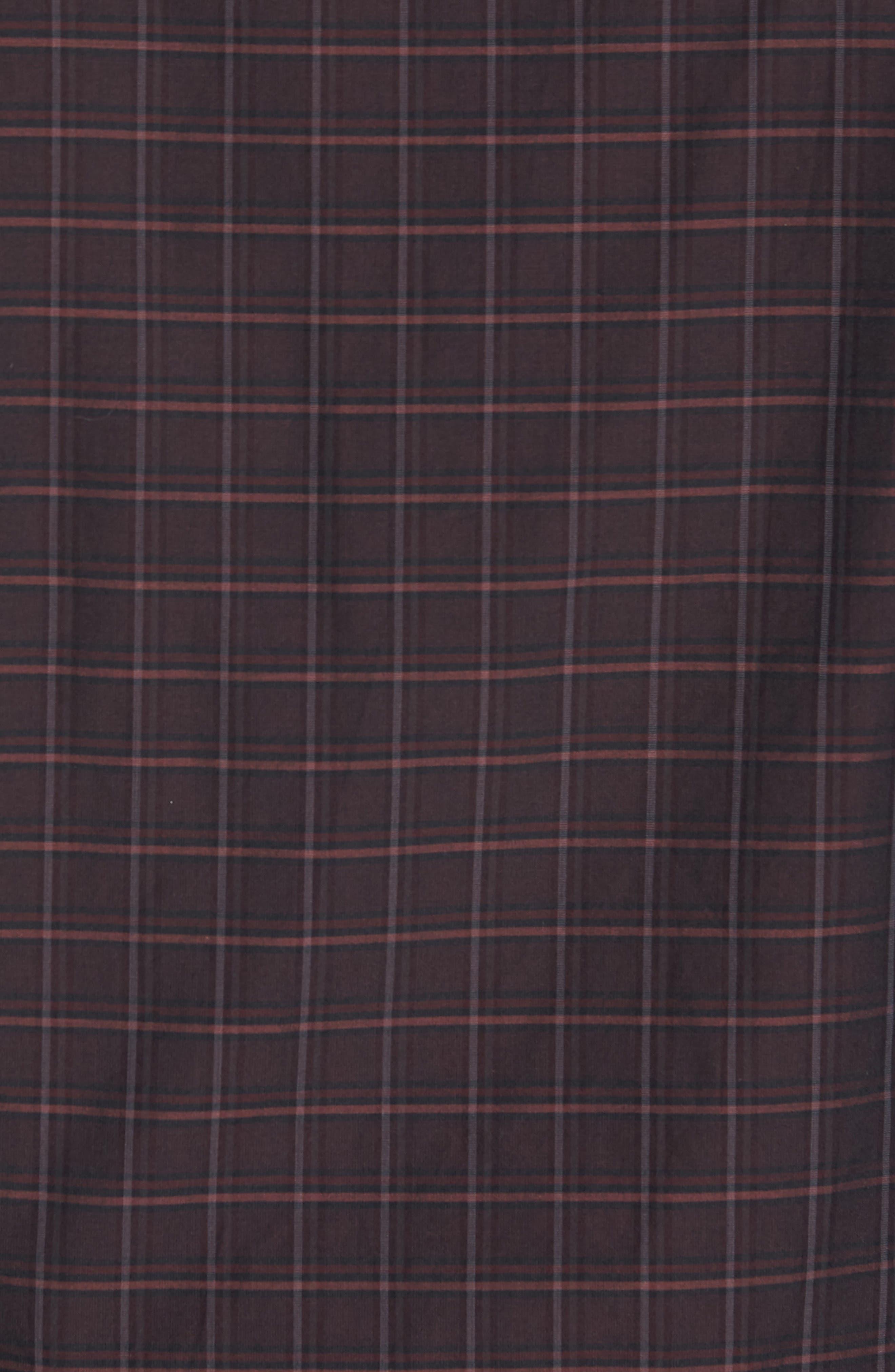 Alternate Image 4  - Luciano Barbera Trim Fit Windowpane Print Sport Shirt