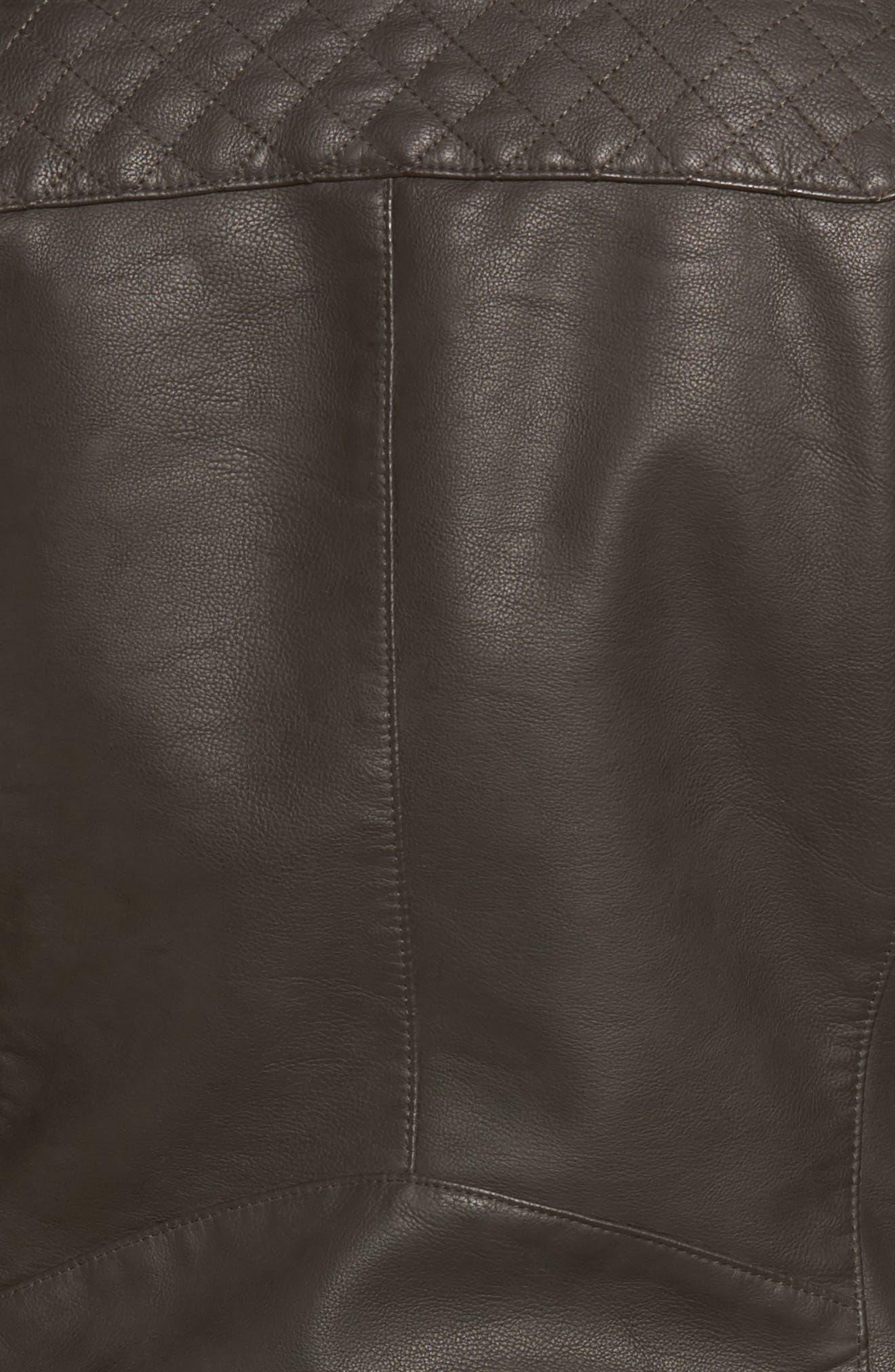 Alternate Image 5  - LEVIS® Faux Leather Moto Jacket
