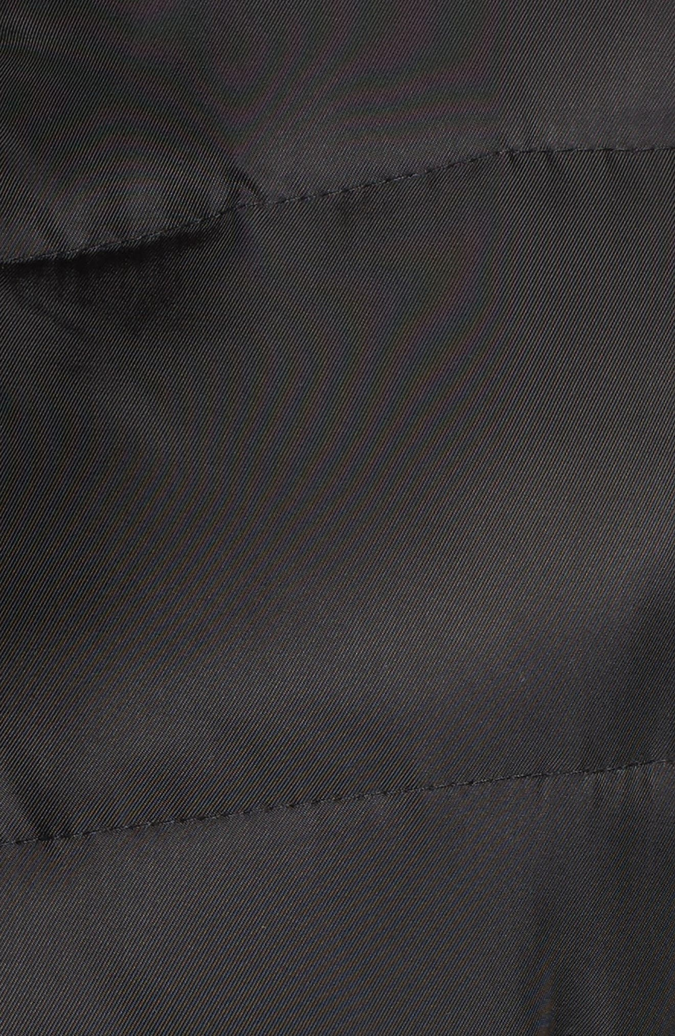 Belted Coat with Detachable Faux Fur,                             Alternate thumbnail 5, color,                             Black