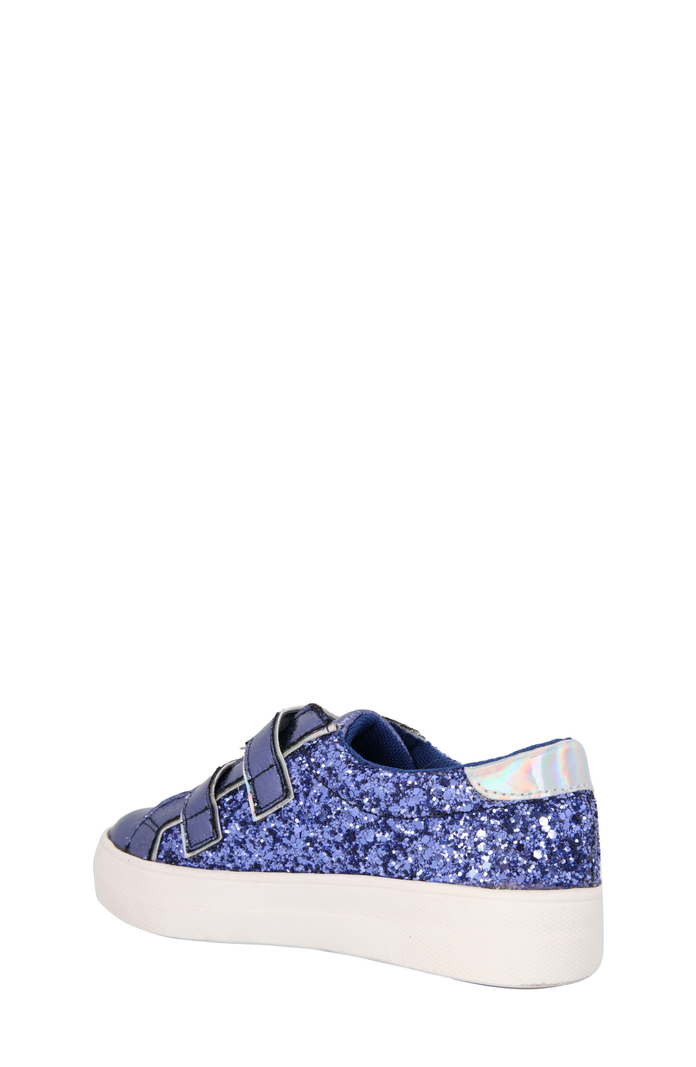 Ashley Glittery Metallic Sneaker,                             Alternate thumbnail 2, color,                             Cobalt Metallic/ Glitter