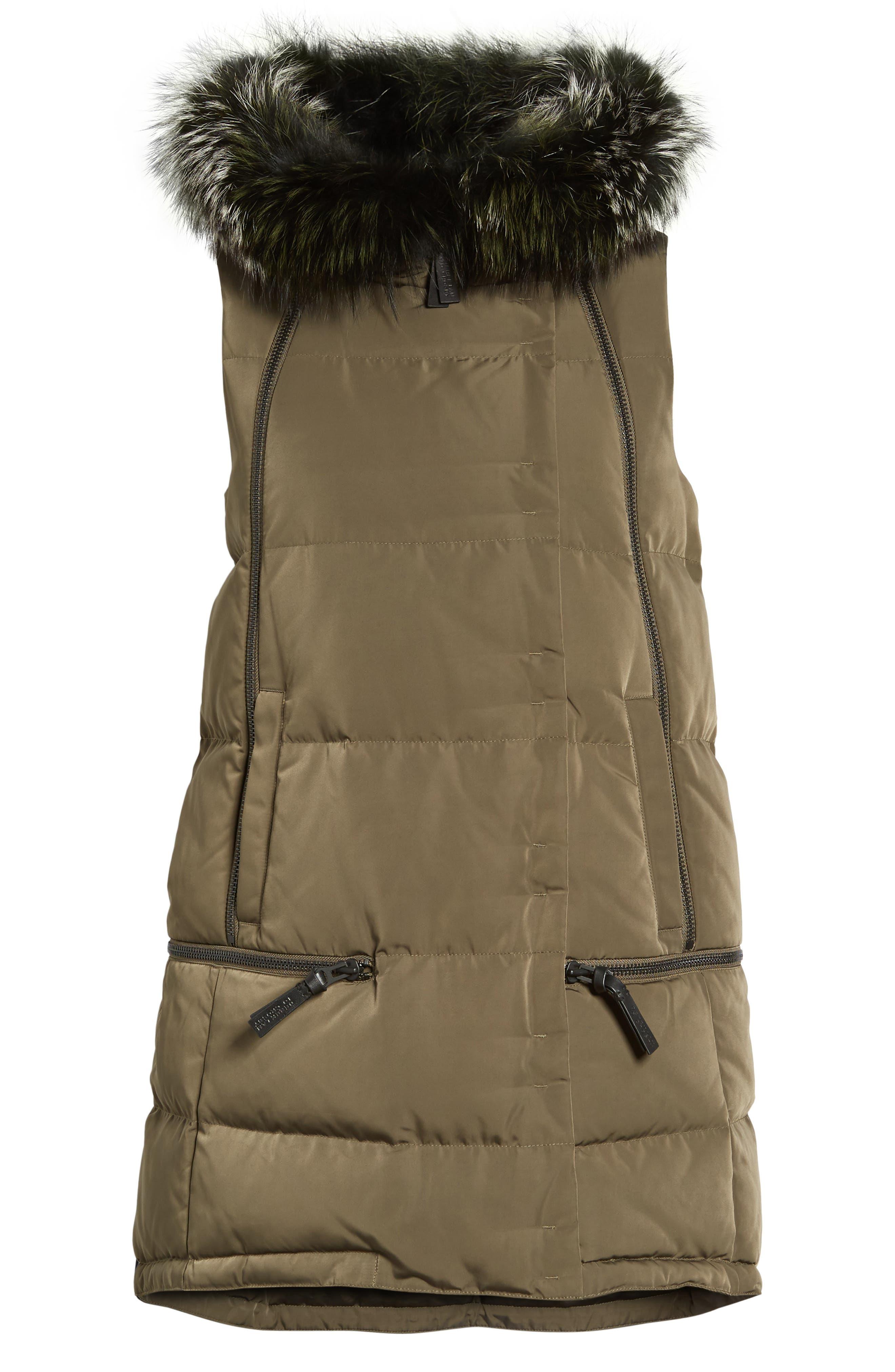 Alternate Image 5  - Derek Lam 10 Crosby Vest with Genuine Fox Fur