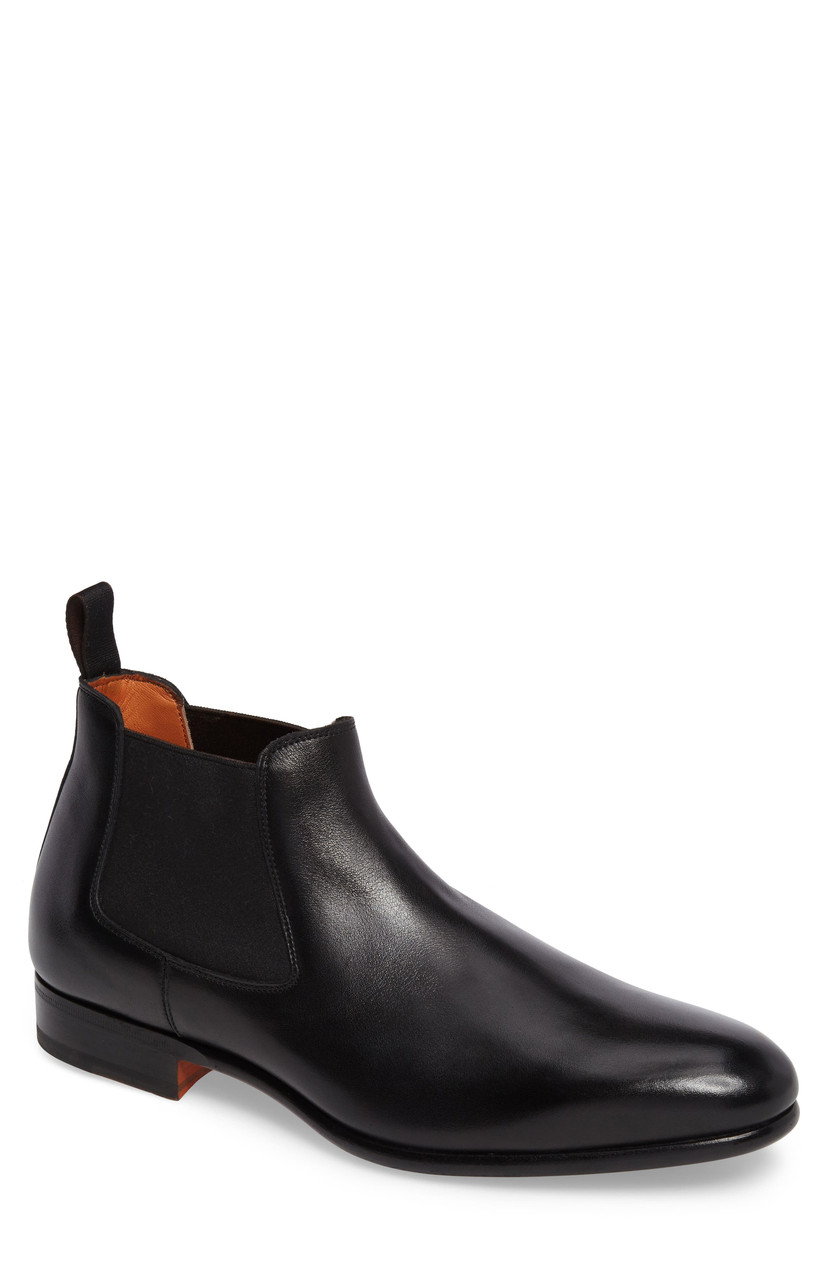 Gunther Chelsea Boot,                         Main,                         color, Black Leather