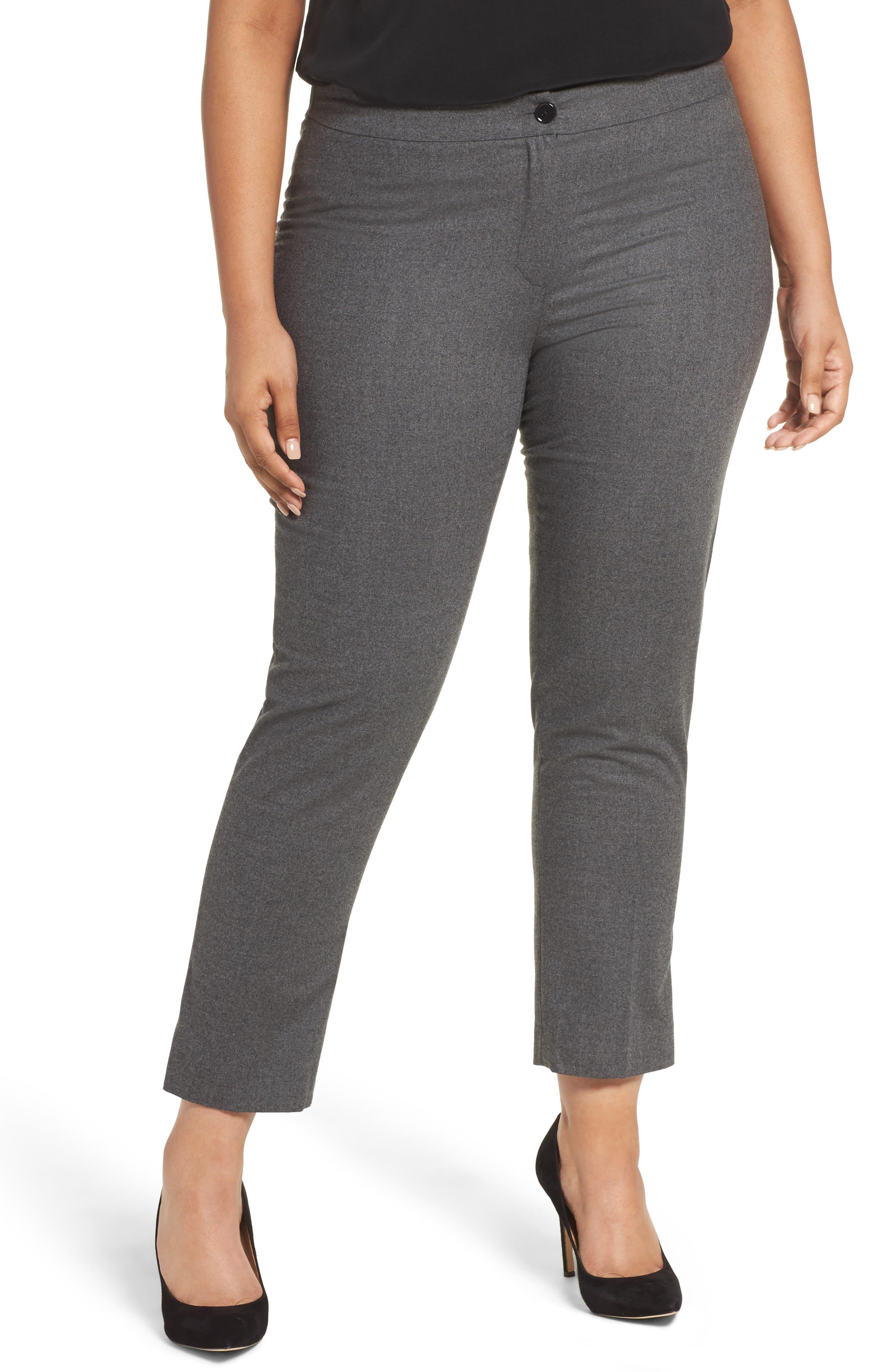 Persona by Marina Rinaldi Raggio Slim Flannel Trousers (Plus Size)