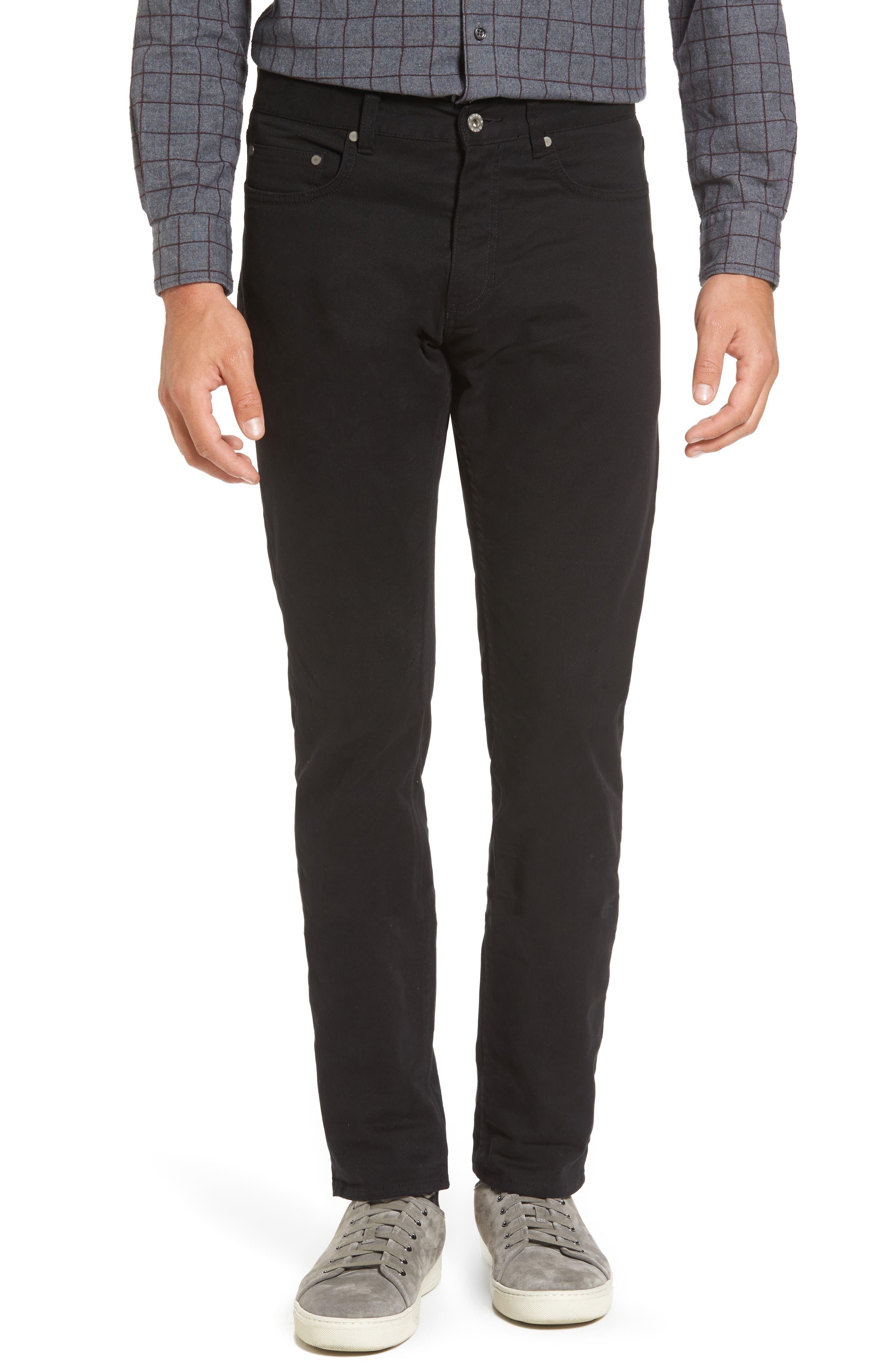 'Barters' Straight Leg Twill Pants,                         Main,                         color, Onyx