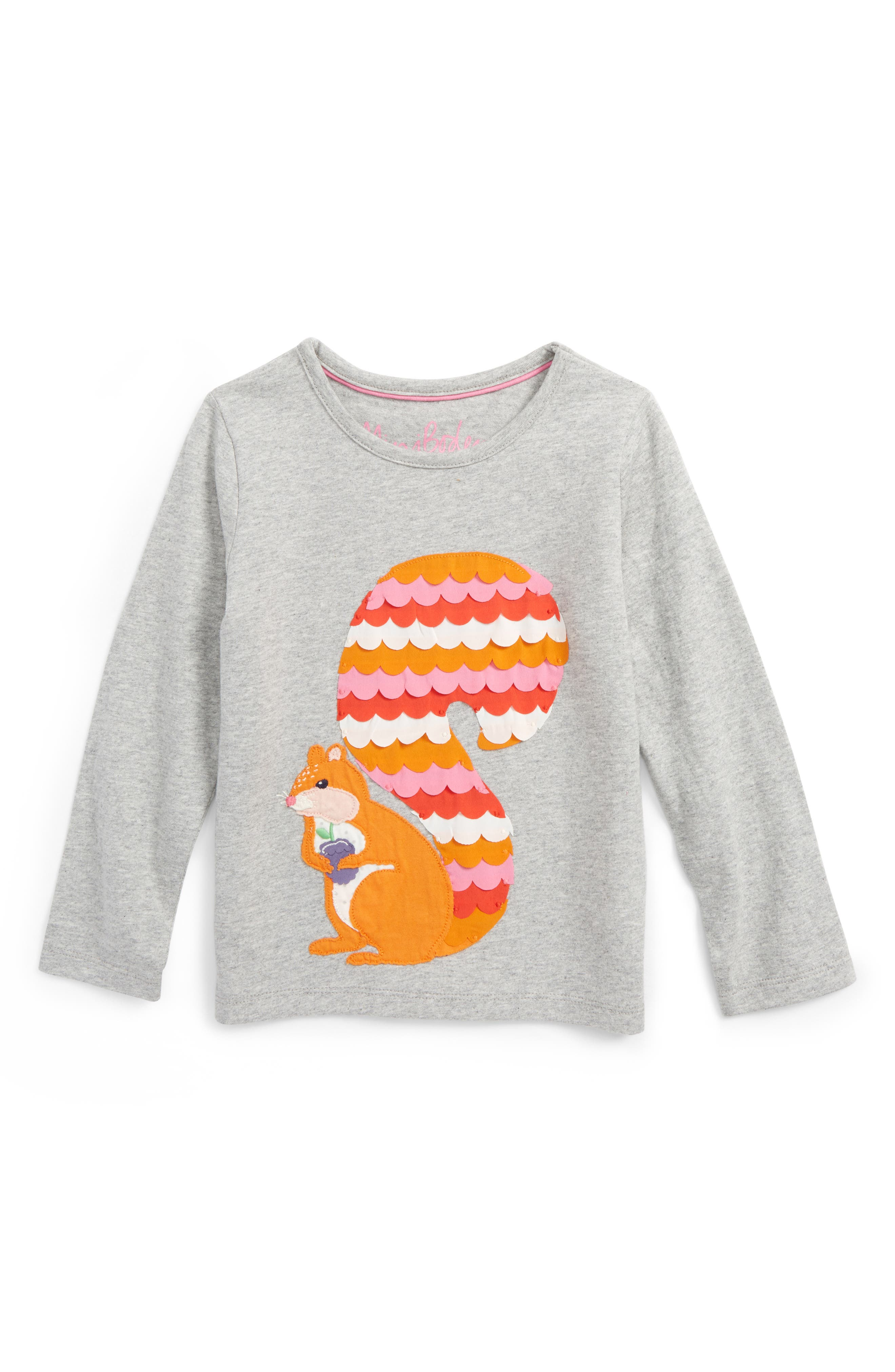Boden Big Appliqué T-Shirt (Toddler Girls, Little Girls & Big Girls)