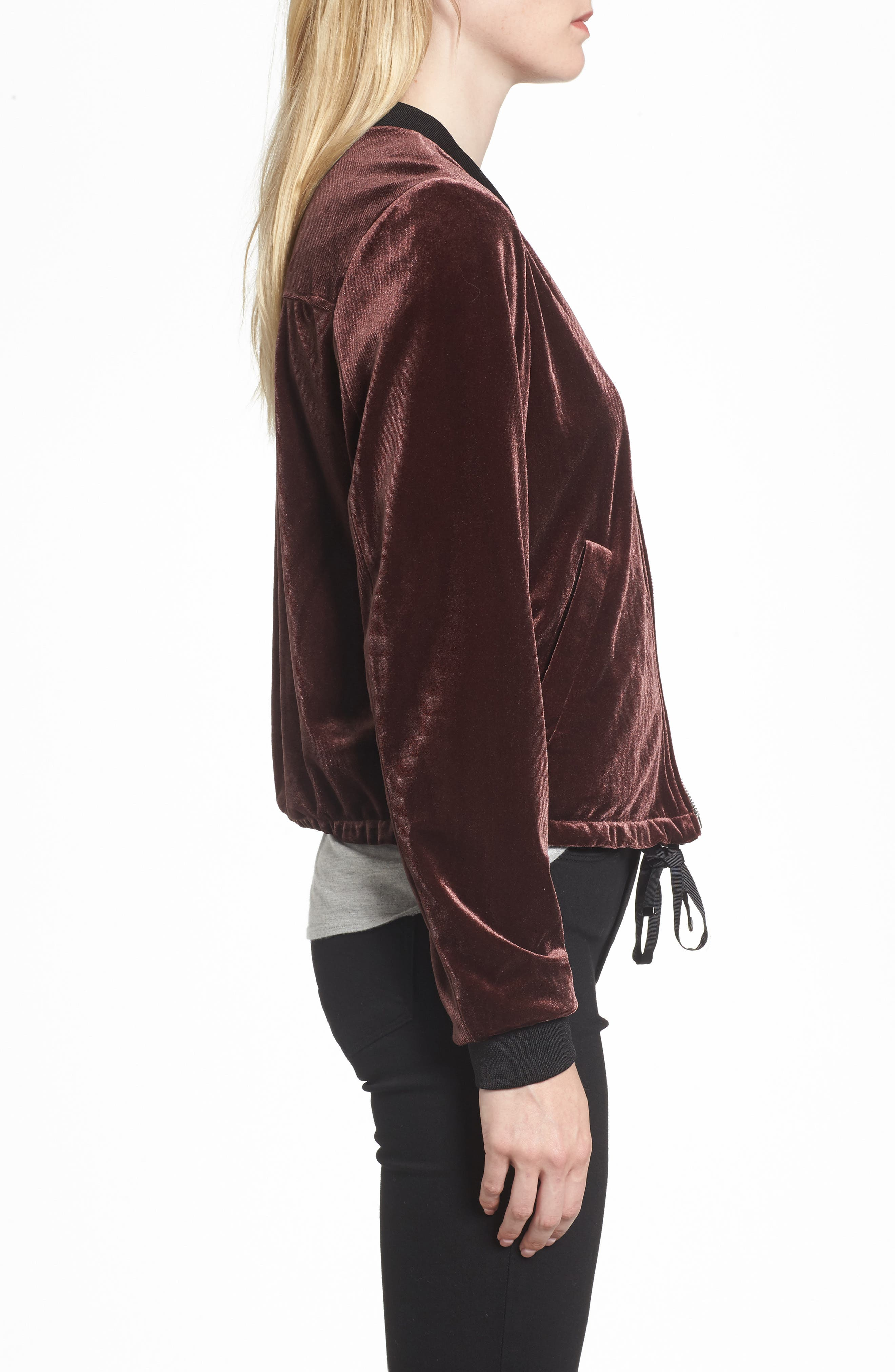 Alternate Image 3  - NVLT Velvet Bomber Jacket